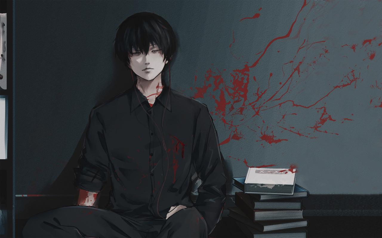 Ken Kaneki From Tokyo Ghoul Wallpaper in 1280x800 Resolution