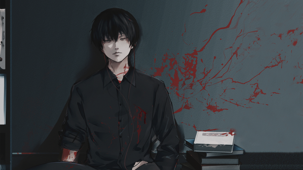 Ken Kaneki From Tokyo Ghoul Wallpaper in 1280x720 Resolution