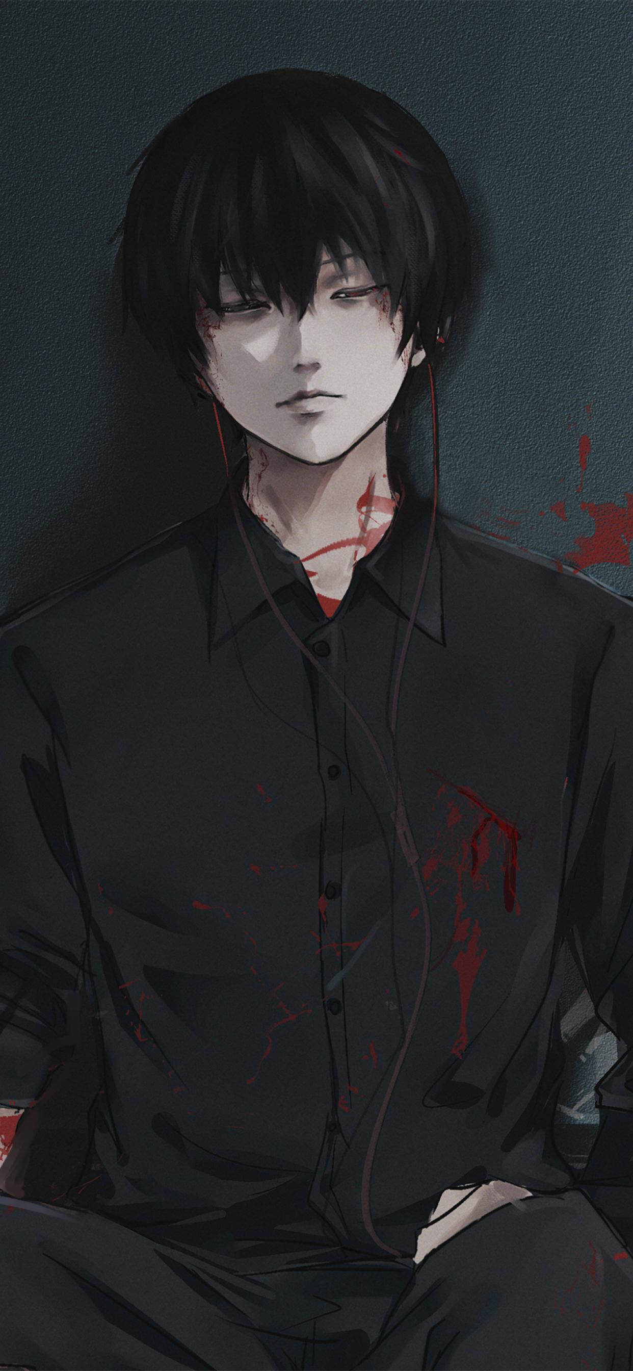 Ken Kaneki From Tokyo Ghoul Wallpaper in 1242x2688 Resolution