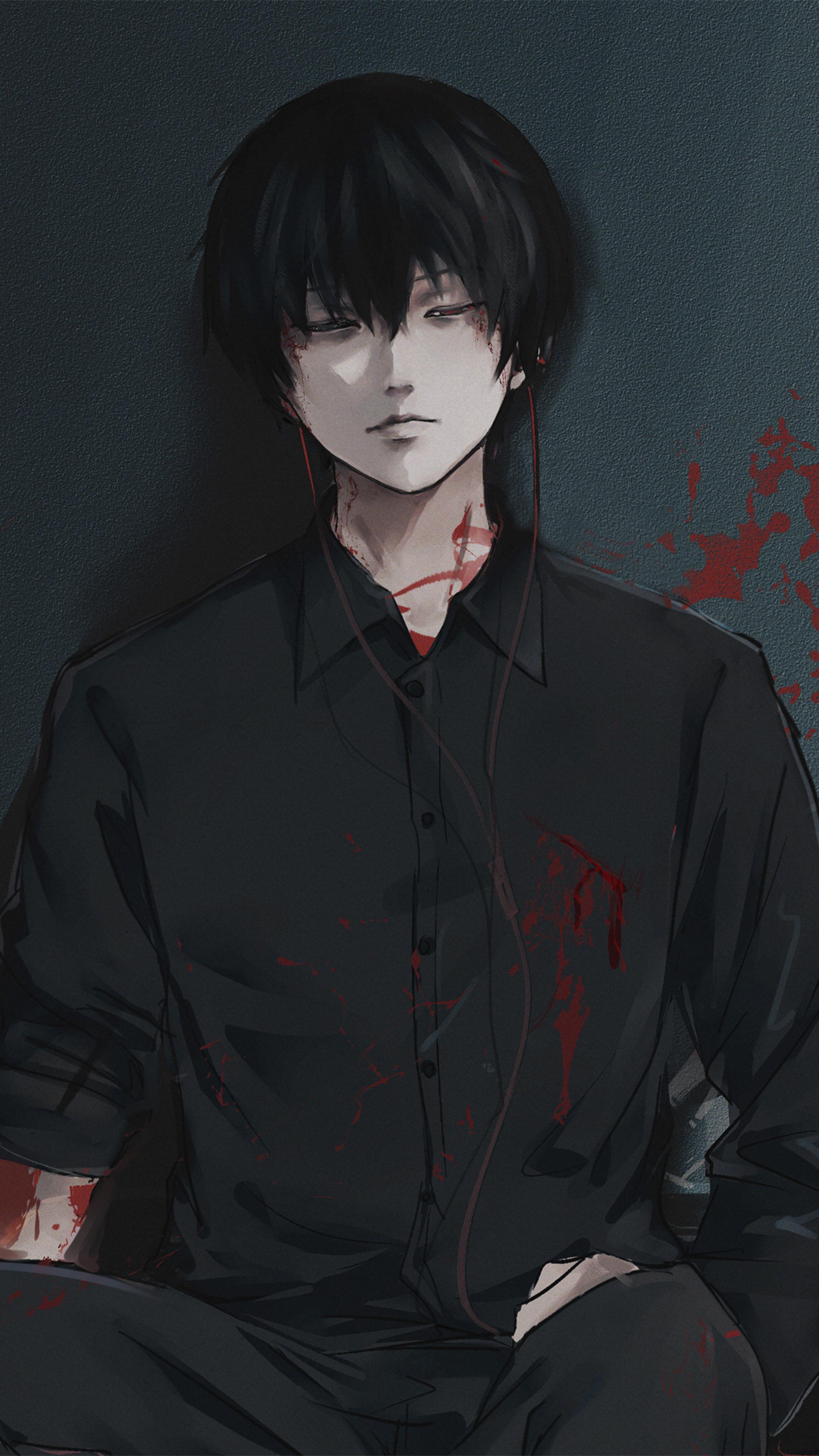 Ken Kaneki From Tokyo Ghoul Wallpaper in 2160x3840 Resolution
