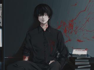 Ken Kaneki From Tokyo Ghoul Wallpaper in 320x240 Resolution