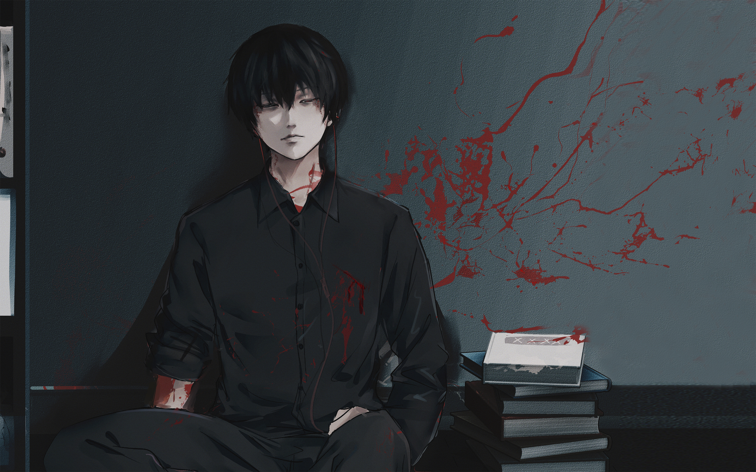 2560x1024 Ken Kaneki From Tokyo Ghoul 2560x1024 Resolution Wallpaper Hd Anime 4k Wallpapers Images Photos And Background