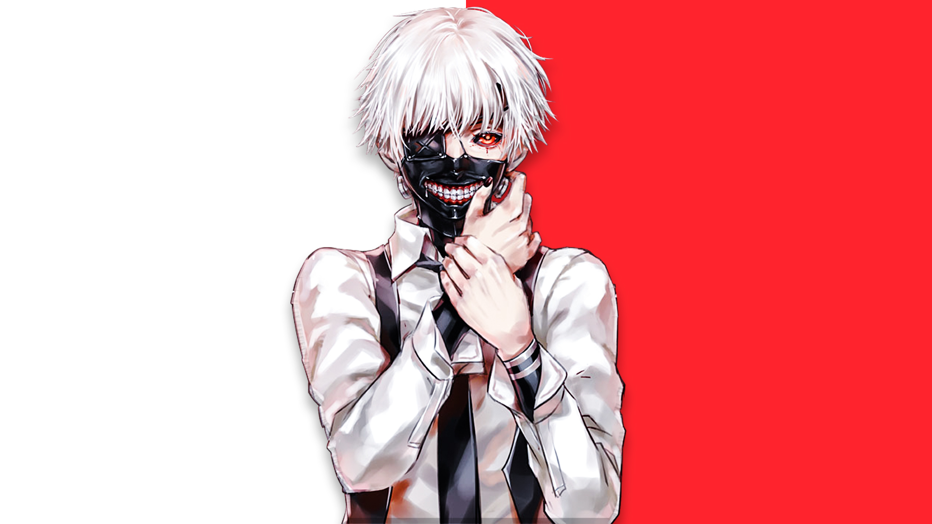Ken Kaneki Tokyo Ghoul Art Wallpaper Hd Anime 4k Wallpapers