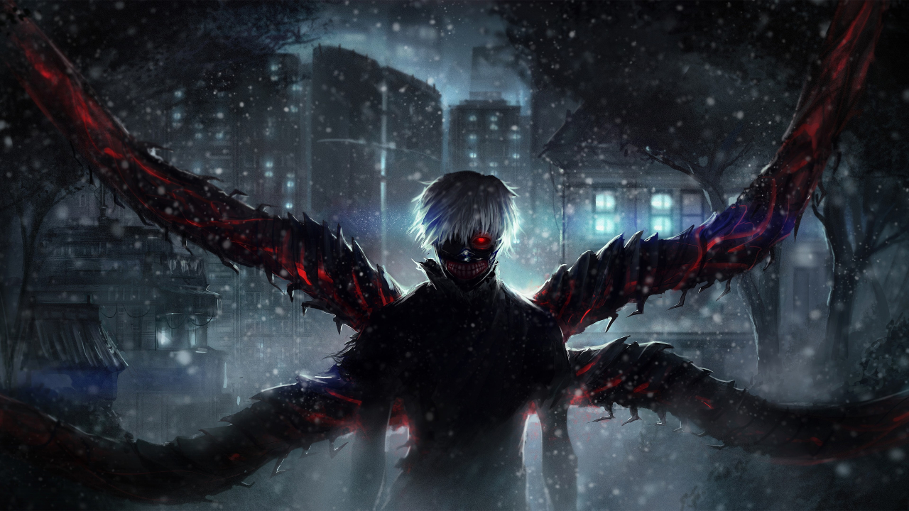 Ken Kaneki Wings Wallpaper in 1280x720 Resolution