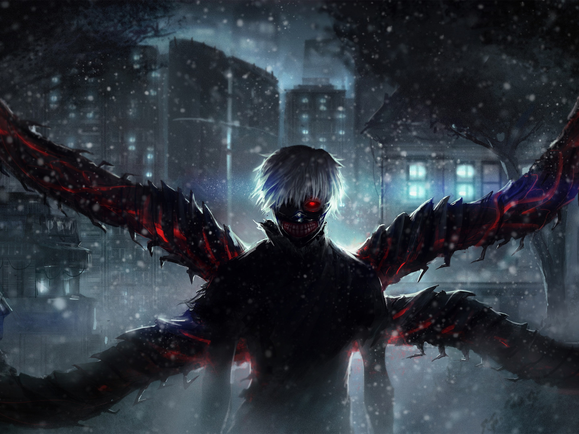 Ken Kaneki Wings Wallpaper in 1152x864 Resolution