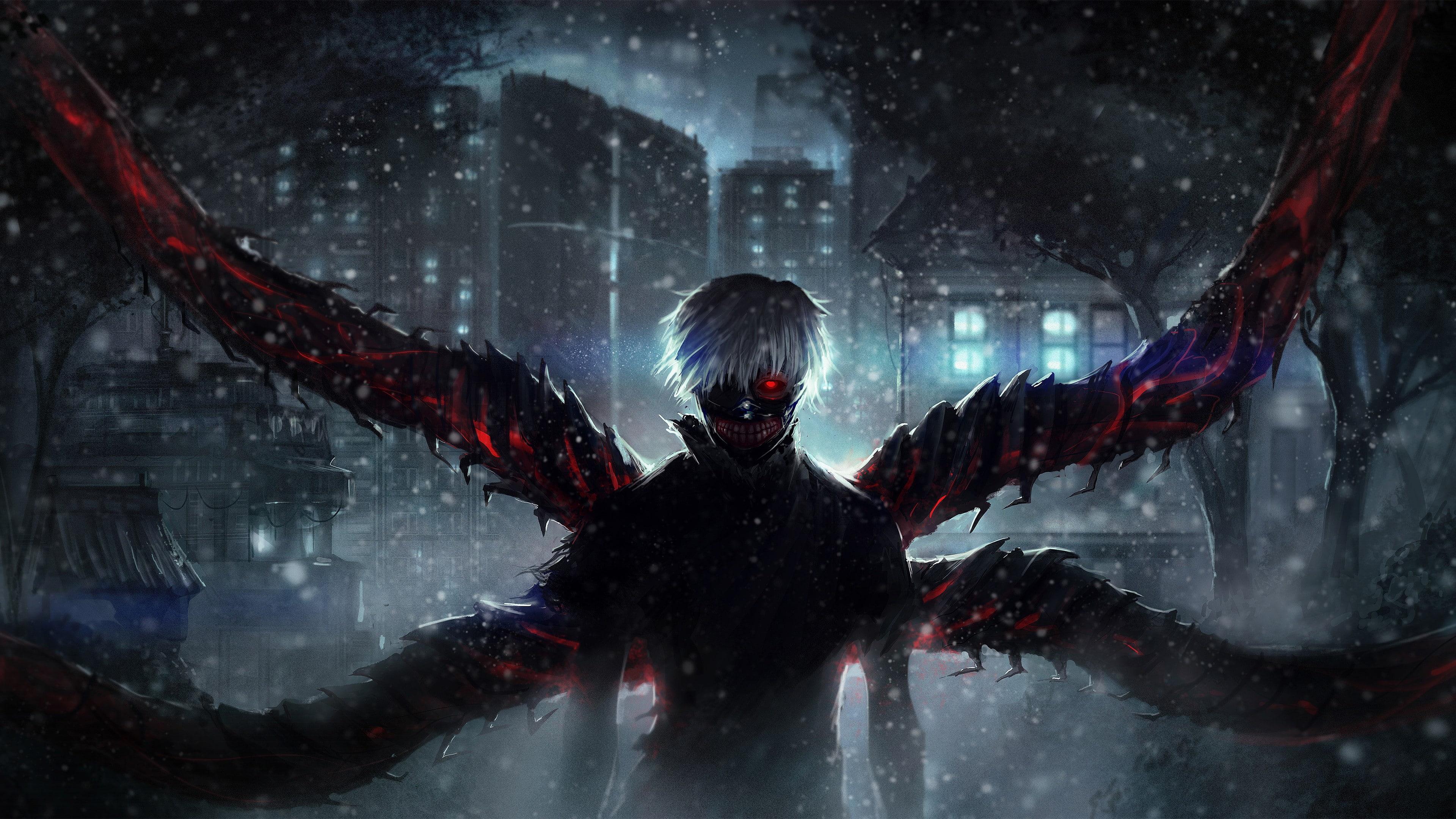 Ken Kaneki Wings Wallpaper in 3840x2160 Resolution