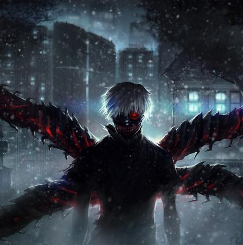 Ken Kaneki Wings Wallpaper in 480x484 Resolution
