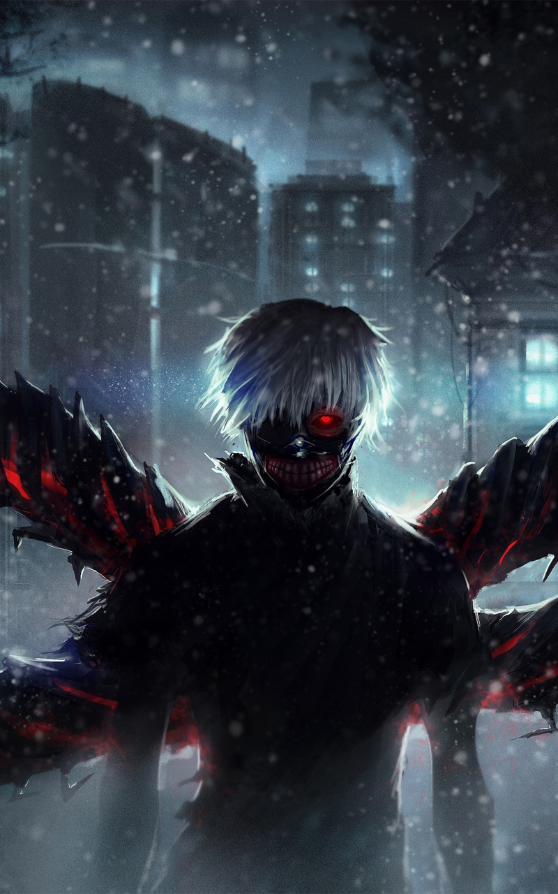 Ken Kaneki Wings Wallpaper in 800x1280 Resolution