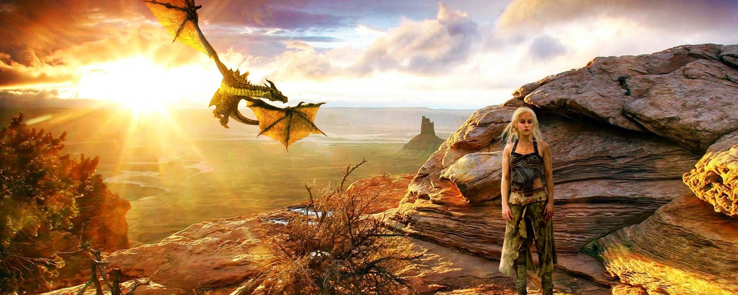 Khaleesi With Dragon Game Of Thrones, Full HD 2K Wallpaper