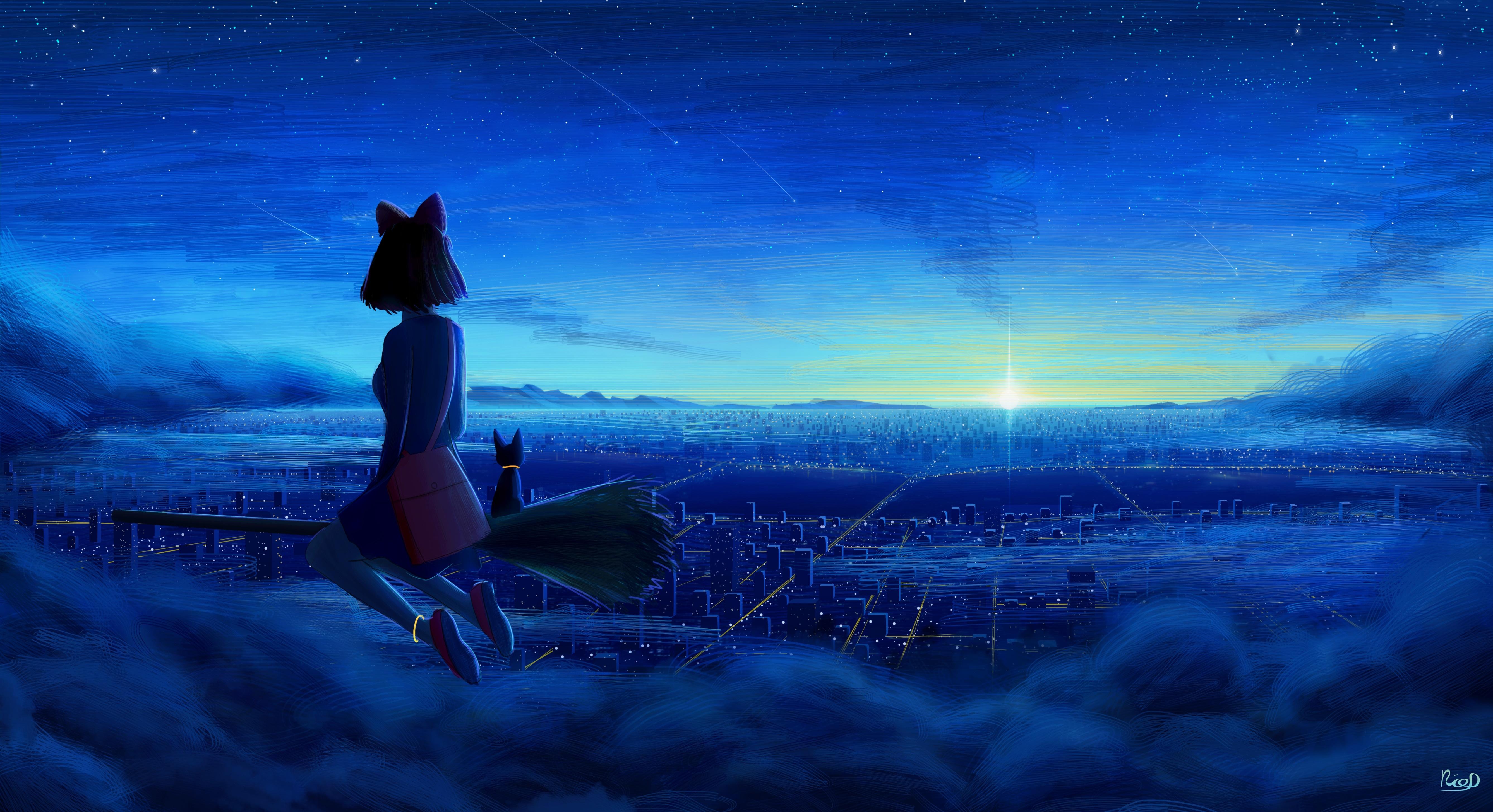 Kiki And Jiji In Kikis Delivery Service Wallpaper Hd Anime 4k