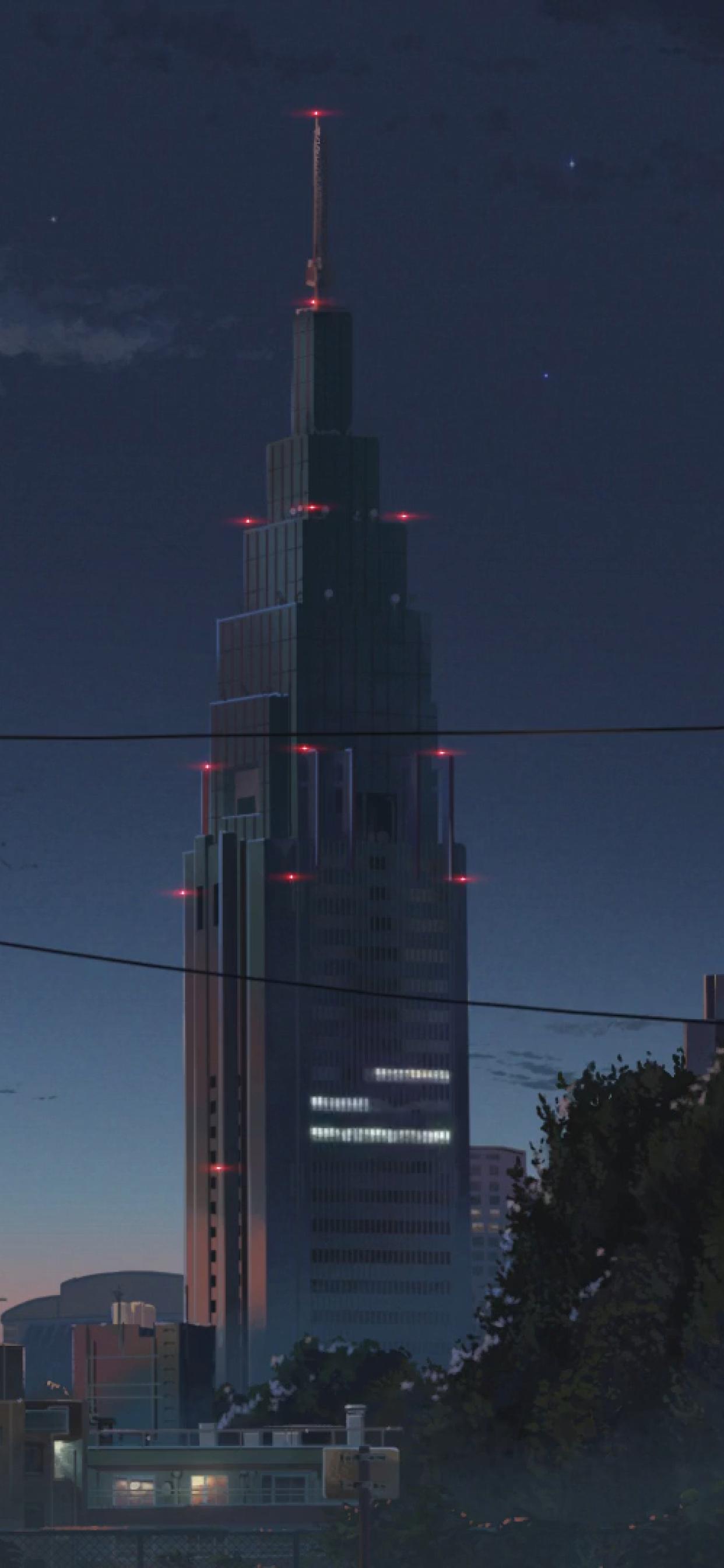 Anime Building Background Night