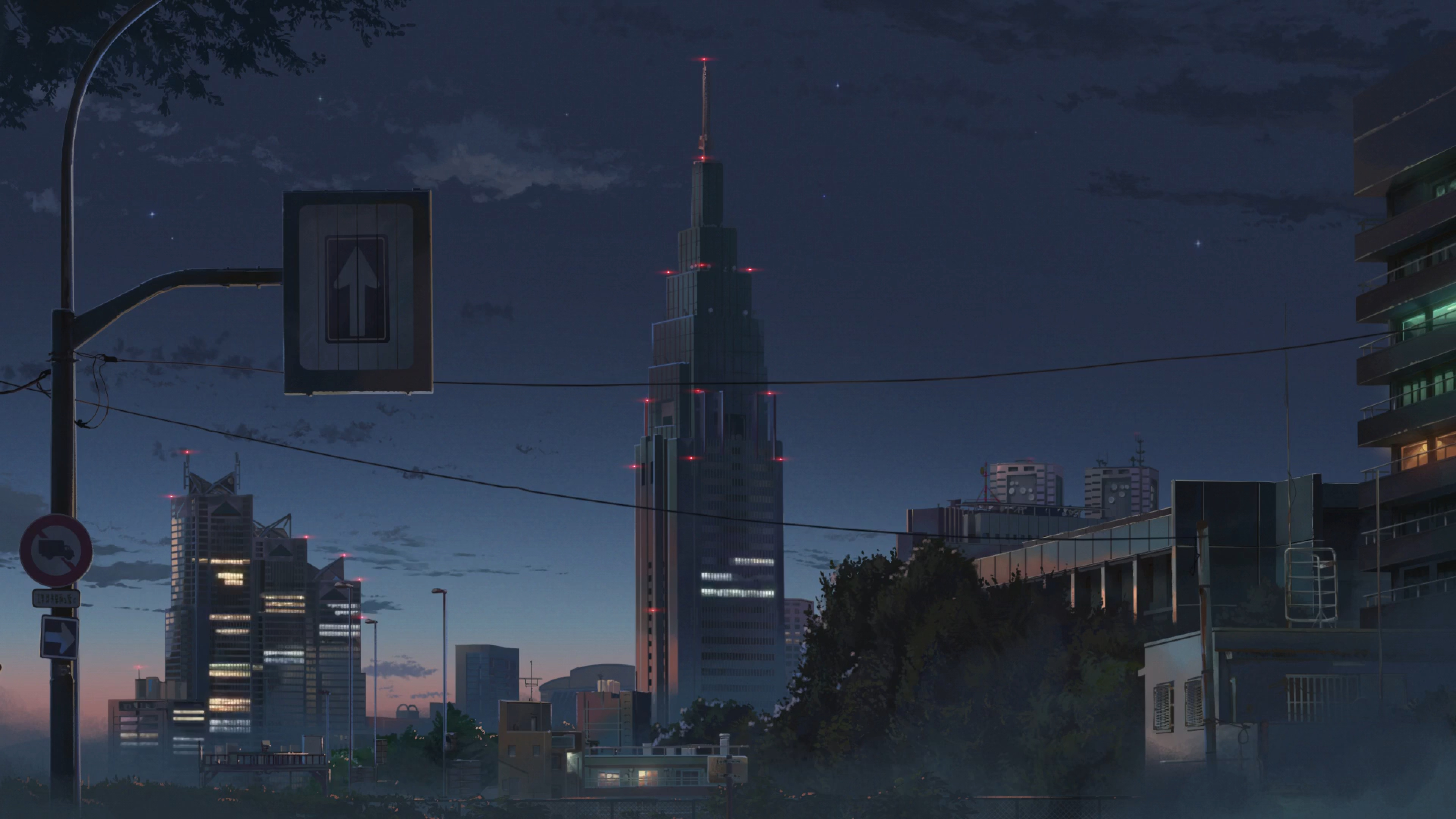 3840x2160 Kimi No Na Wa Anime City 4k Wallpaper Hd Anime 4k Wallpapers Images Photos And Background