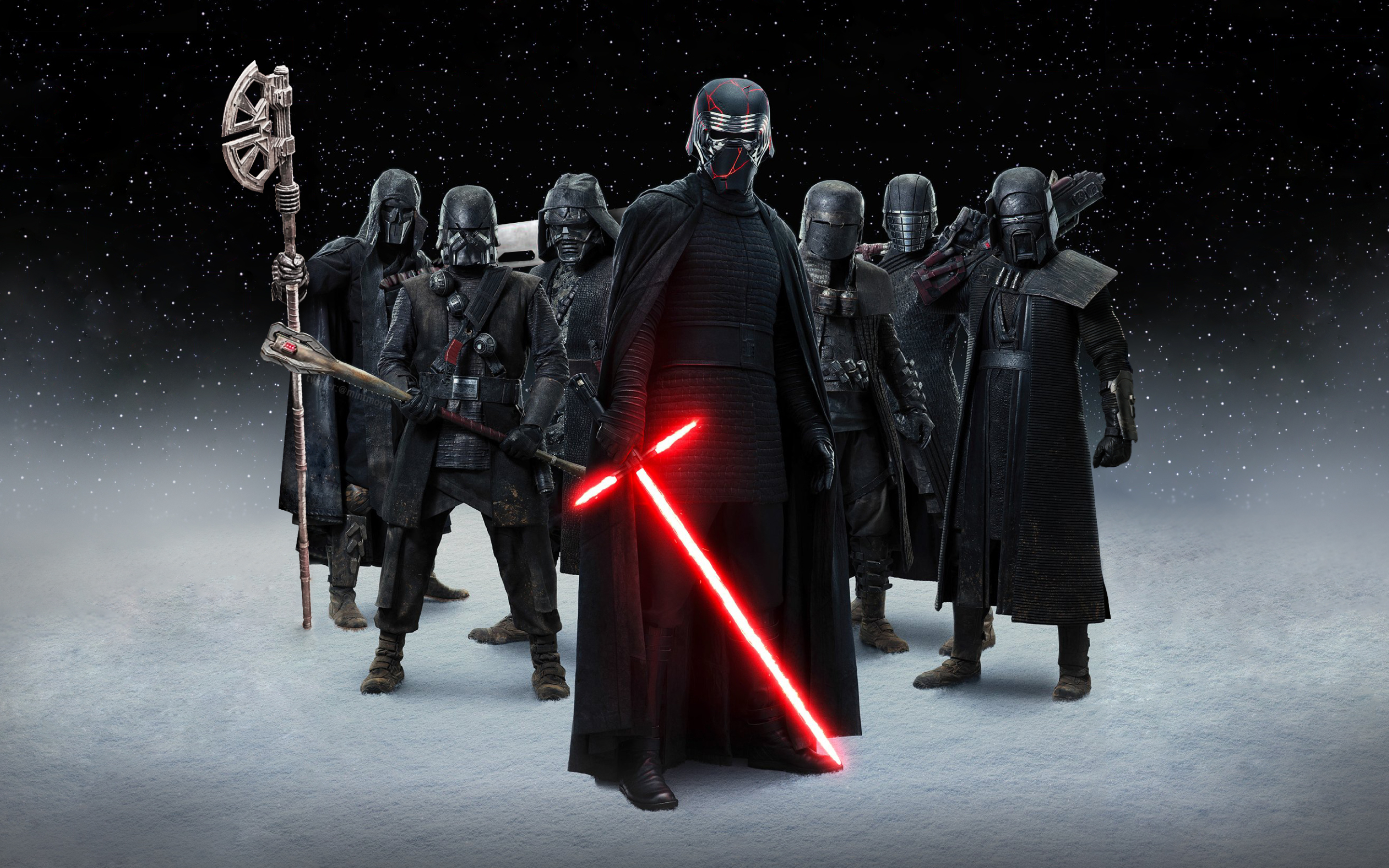 2880x1800 Knights Of Ren Star Wars Macbook Pro Retina Wallpaper Hd Movies 4k Wallpapers Images Photos And Background