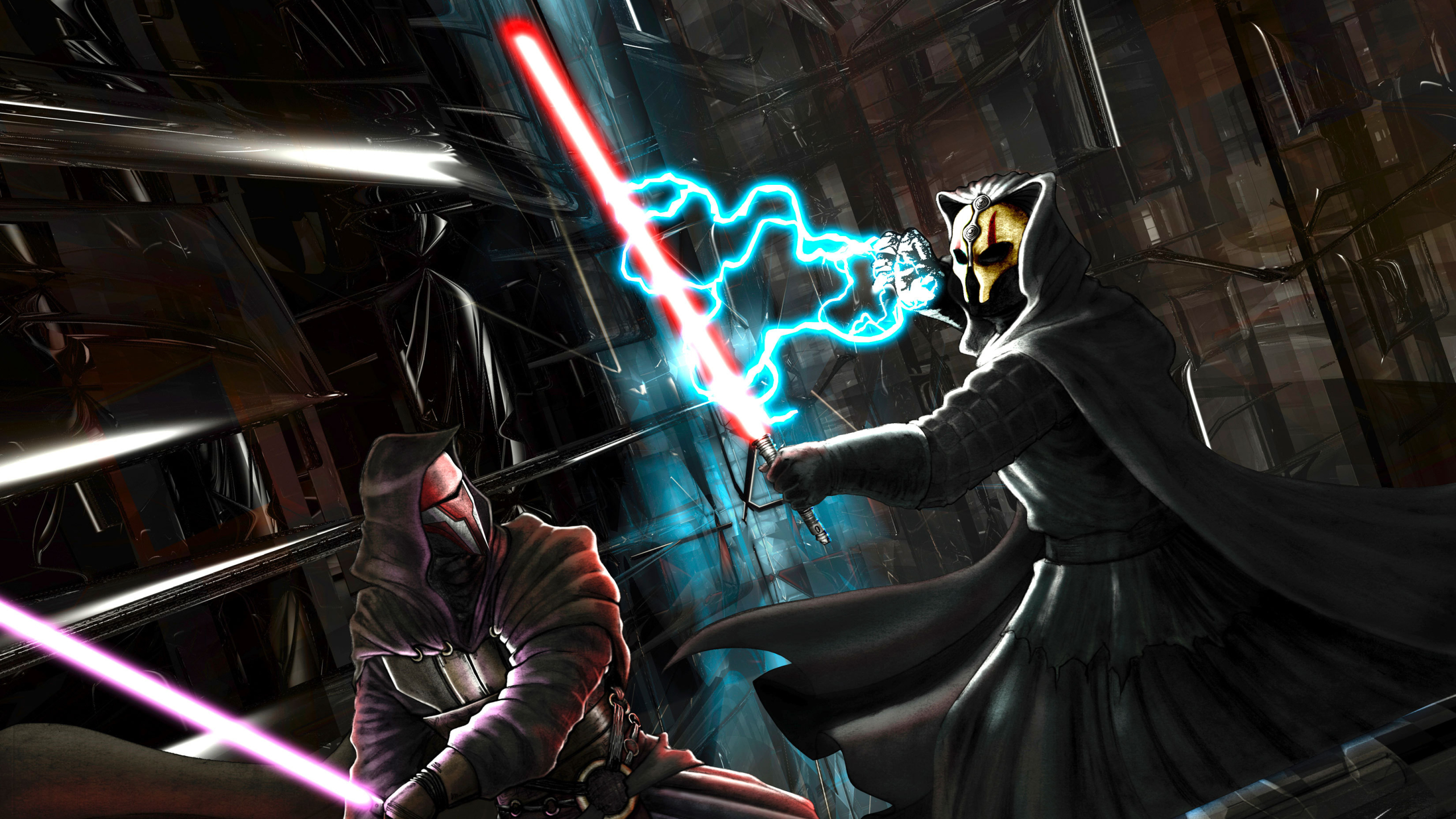 2560x1440 Knights Of The Old Republic Darth Vs Revan 1440p Resolution Wallpaper Hd Games 4k Wallpapers Images Photos And Background