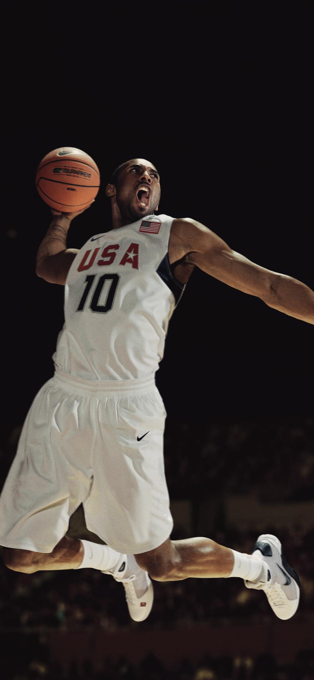 1242x2688 Kobe Bryant Basketball Usa Iphone Xs Max Wallpaper Hd