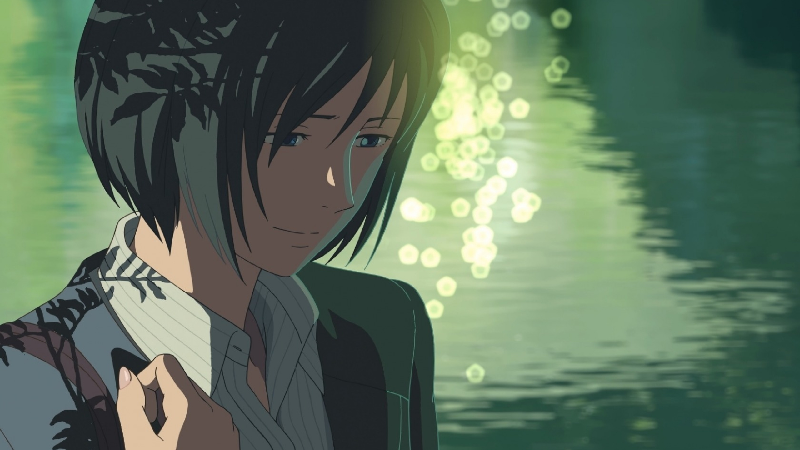 2560x1440 Kotonoha No Niwa The Garden Of Words Makoto Shinkai