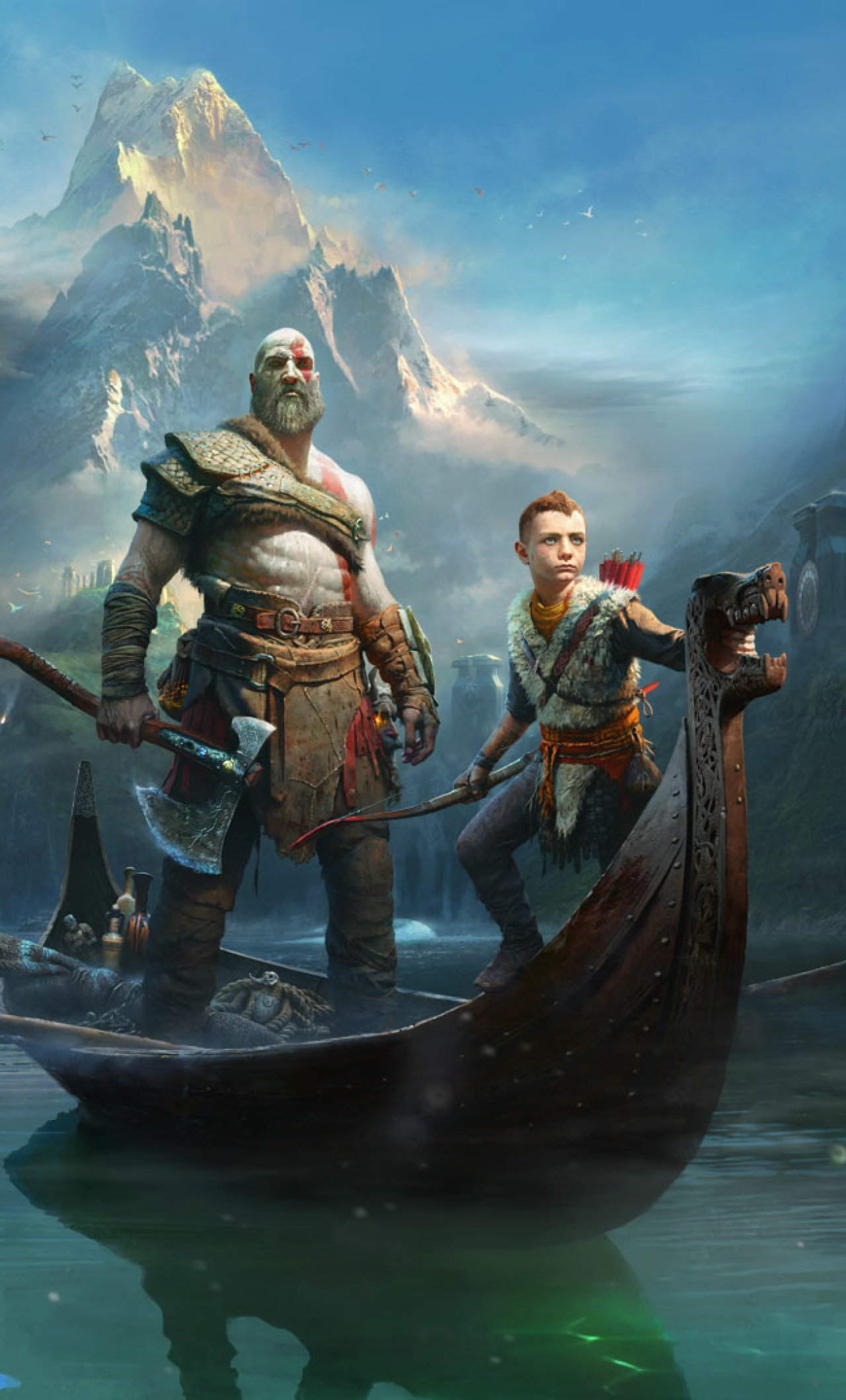 Kratos Atreus God Of War 2018 Full HD Wallpaper