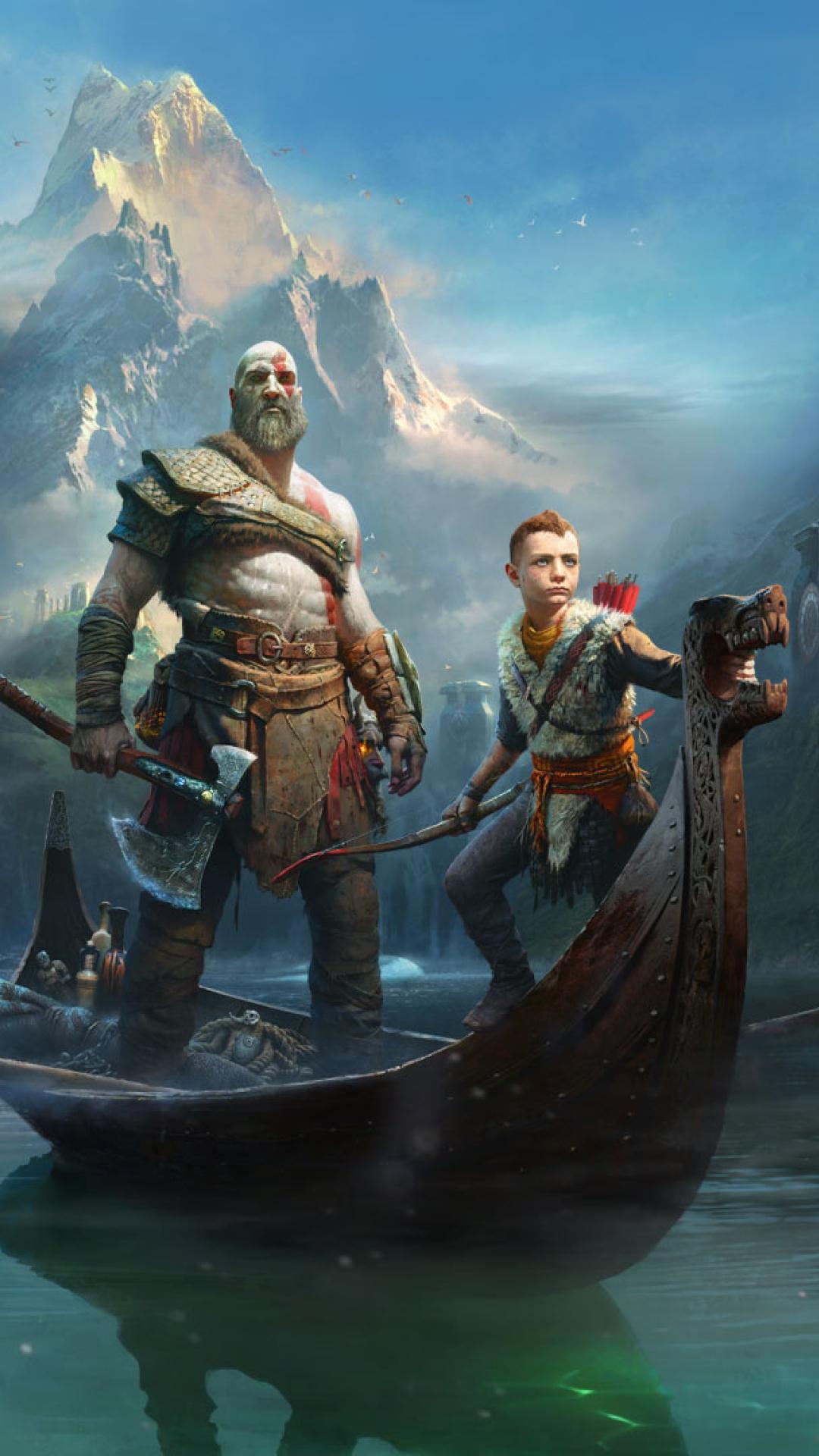 Kratos Atreus God Of War 2018, Full HD Wallpaper