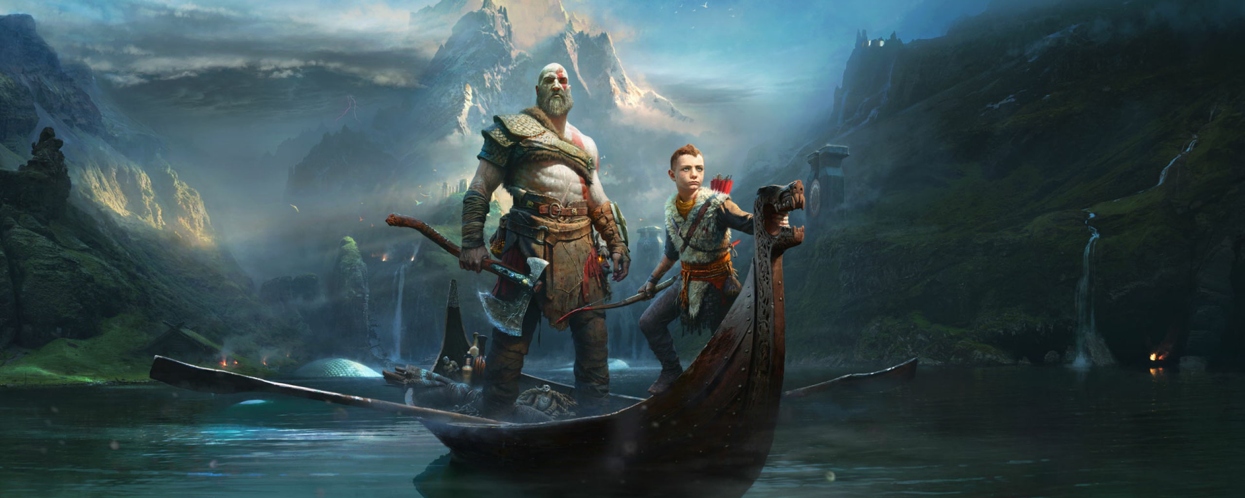 Download Kratos Atreus God Of War 2018 1024x768 Resolution ...