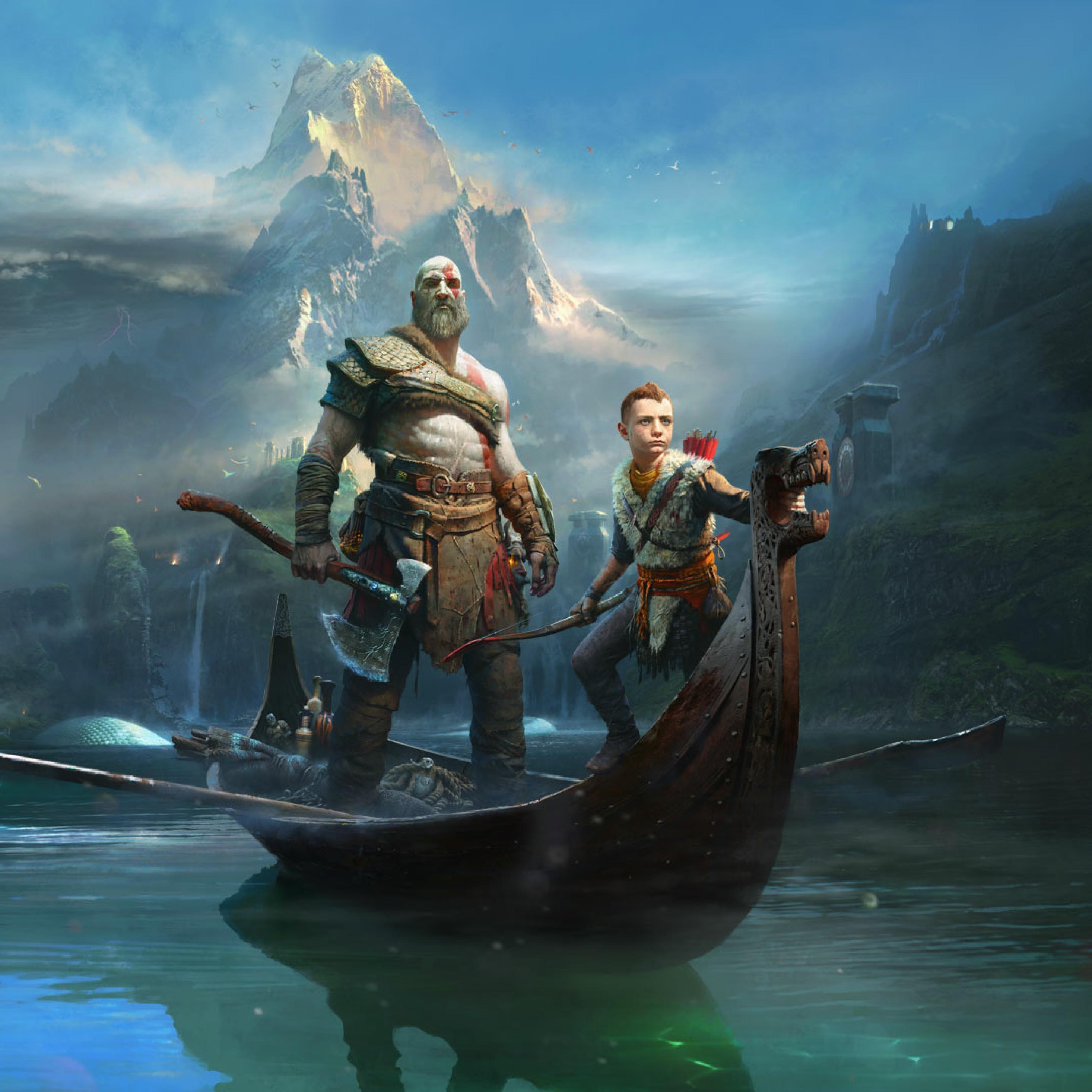 2932x2932 Kratos Atreus God Of War 2018 Ipad Pro Retina Display