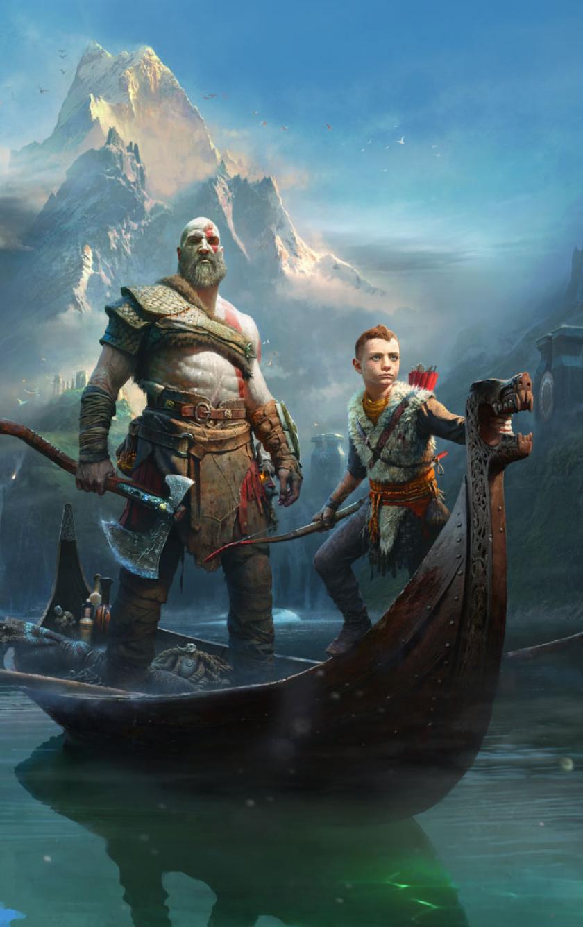 840x1336 Kratos Atreus God Of War 2018 840x1336 Resolution