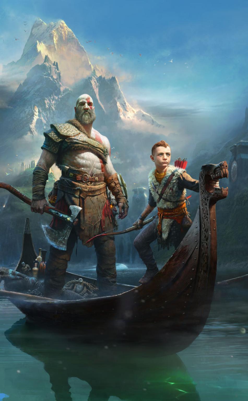 950x1534 Kratos Atreus God Of War 2018 950x1534 Resolution