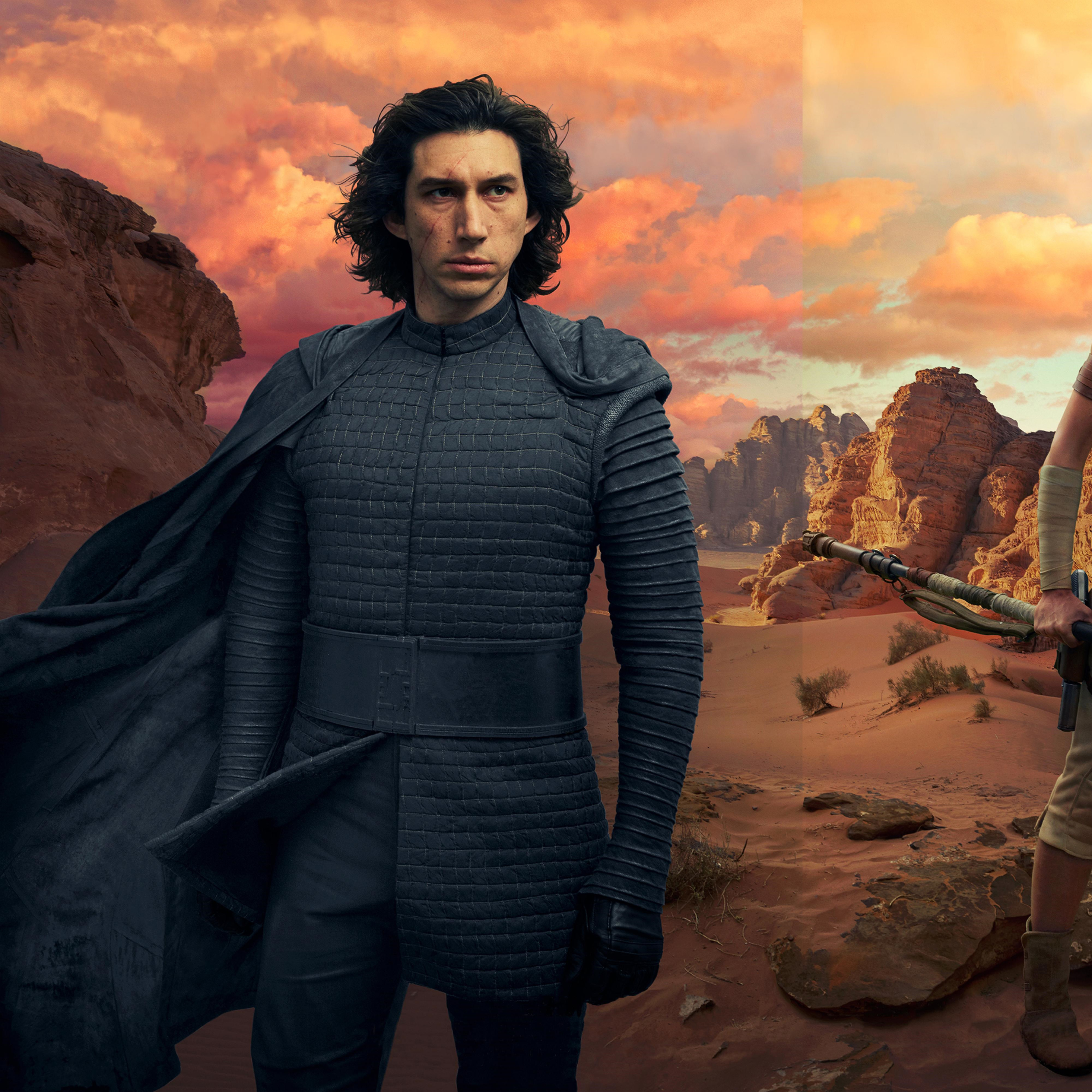 2932x2932 Kylo Ren And Rey In Star Wars The Rise Of Skywalker Ipad Pro Retina Display Wallpaper Hd Movies 4k Wallpapers Images Photos And Background