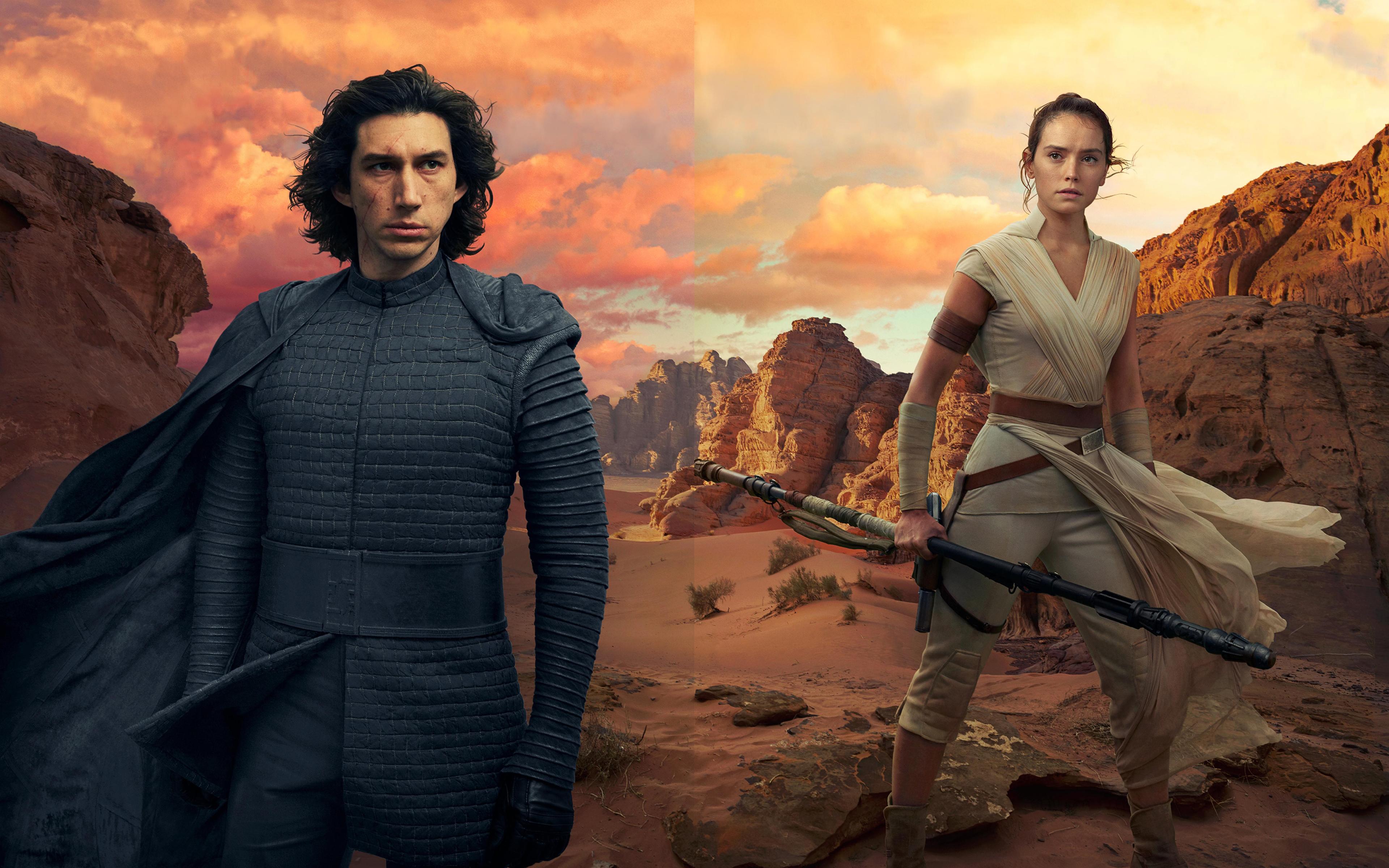 3840x2400 Kylo Ren And Rey In Star Wars The Rise Of Skywalker 4k