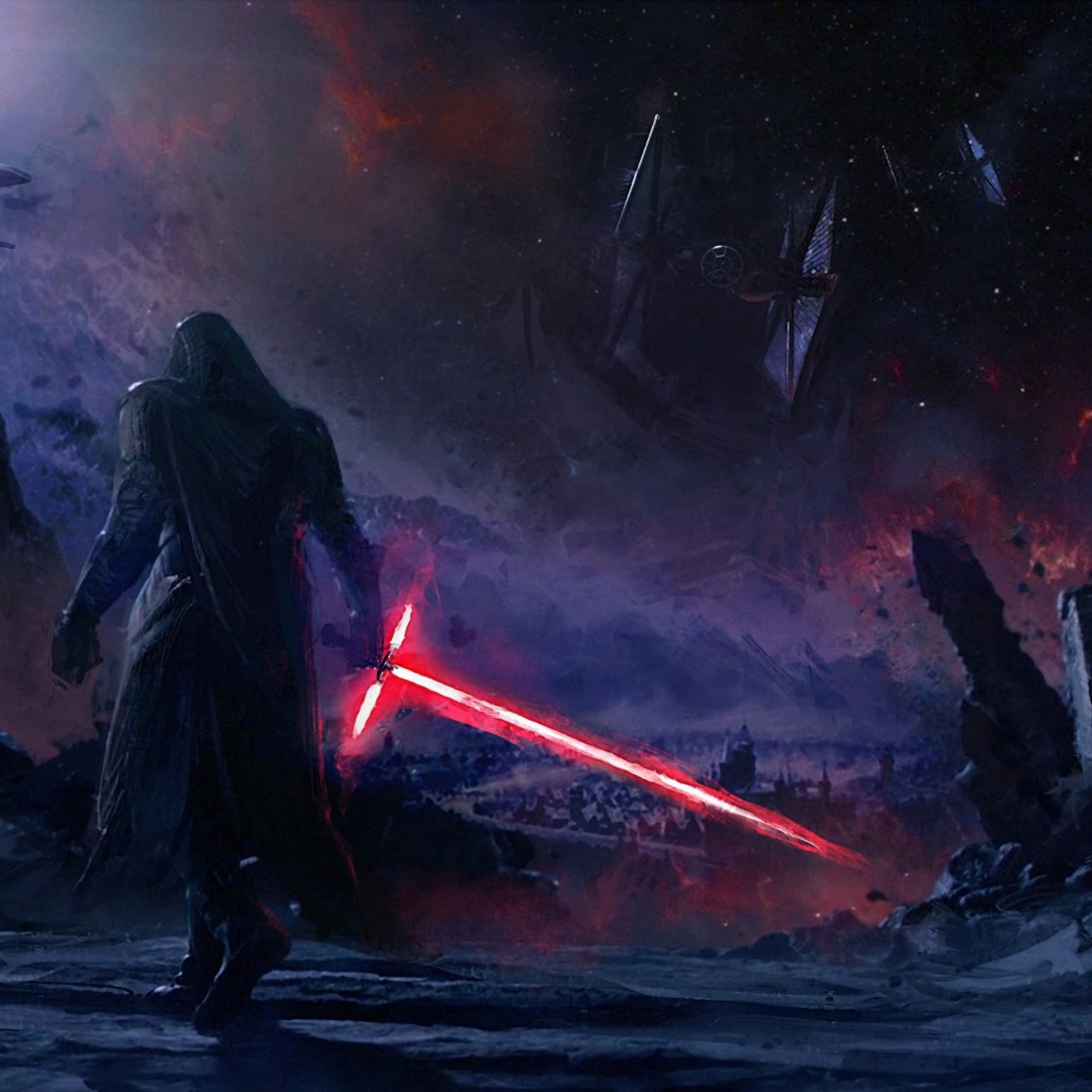2248x2248 Kylo Ren Star Wars Art 2248x2248 Resolution Wallpaper