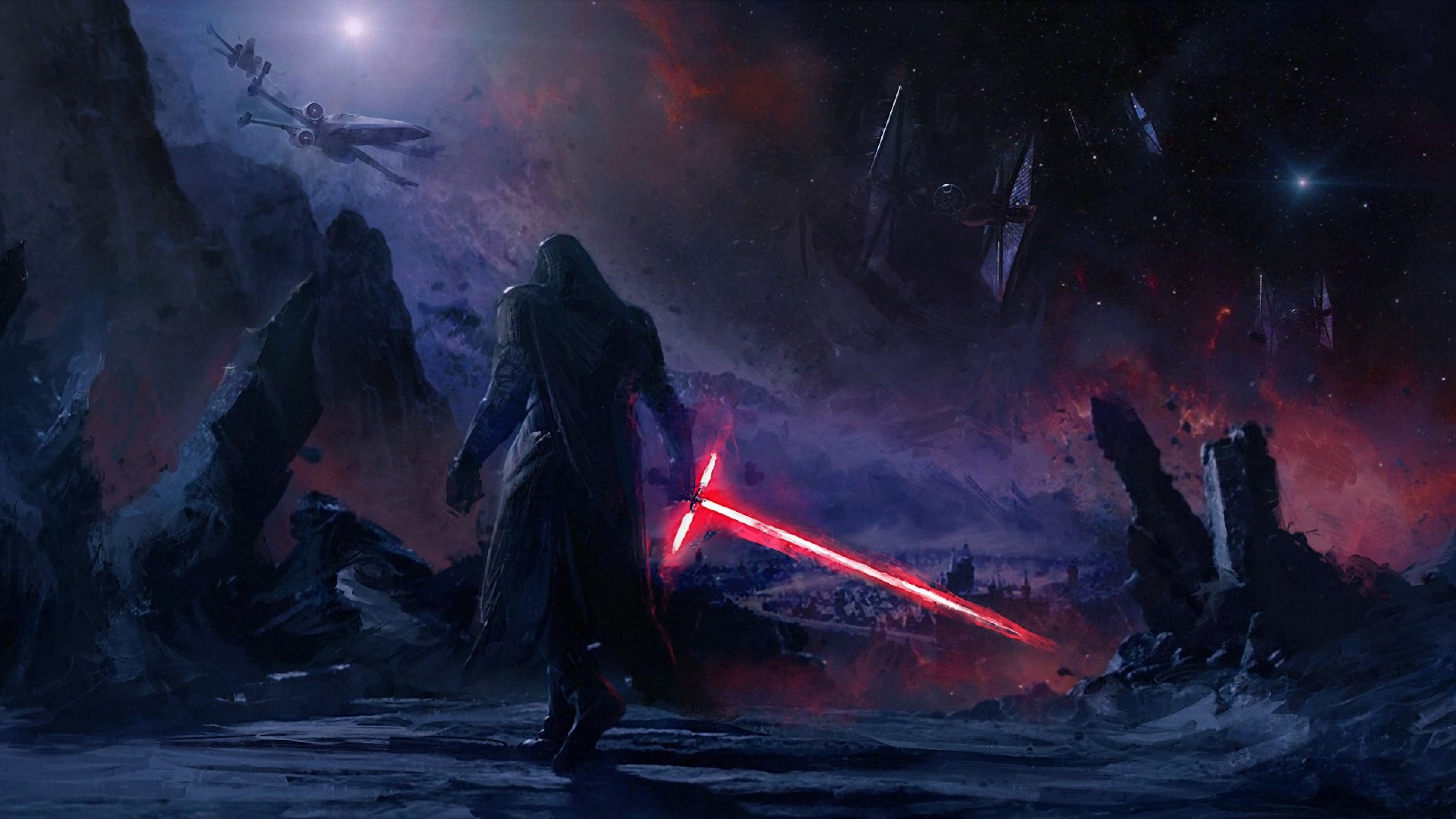 kylo ren star wars art  full hd wallpaper