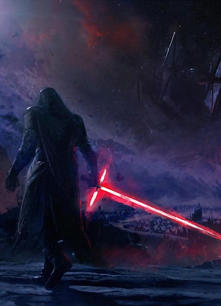Download Kylo Ren Star Wars Art 840x1160 Resolution Full HD Wallpaper