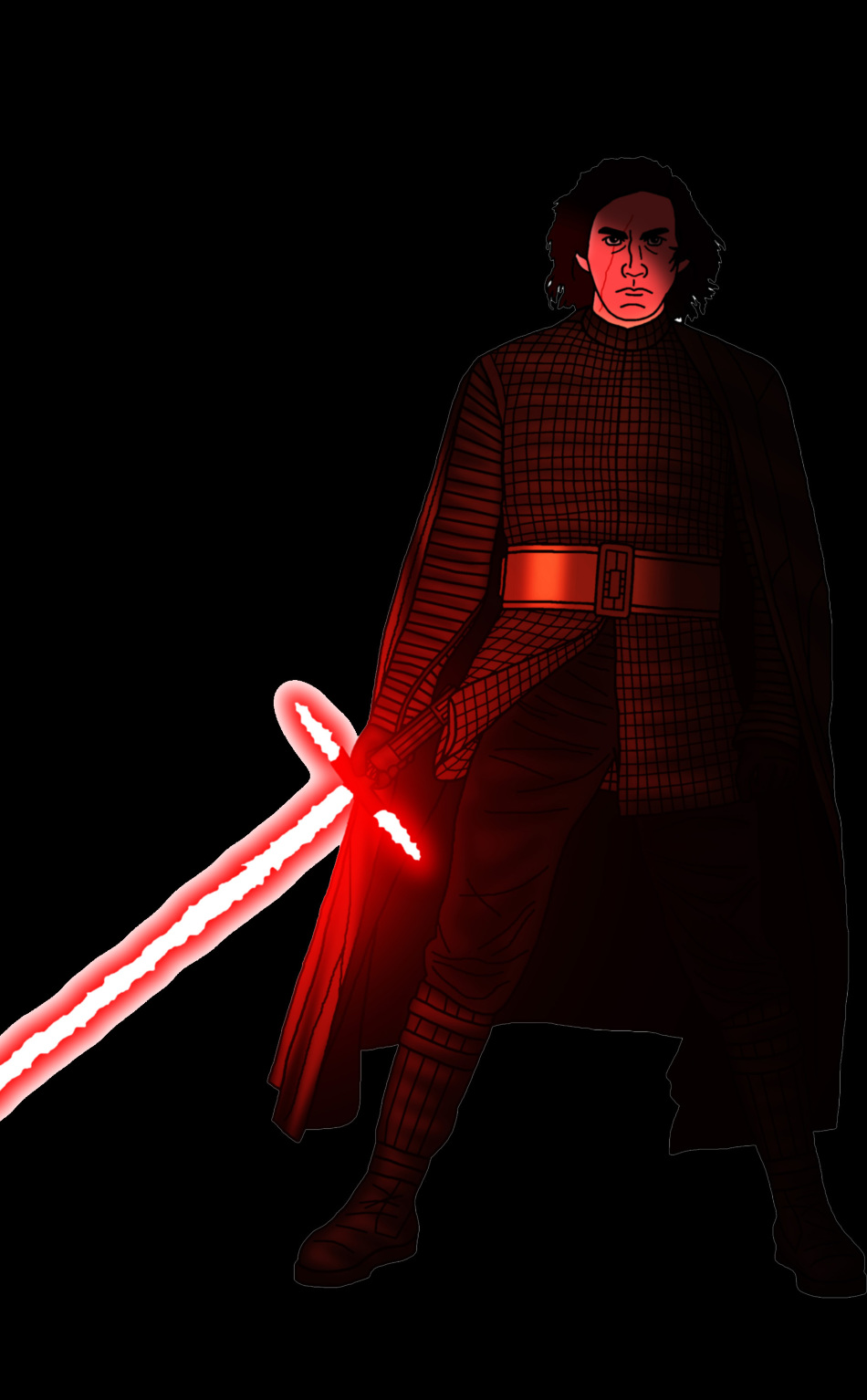 Kylo Ren Star Wars Neon Art Hd 4k Wallpaper 15 Phone Wallpaper