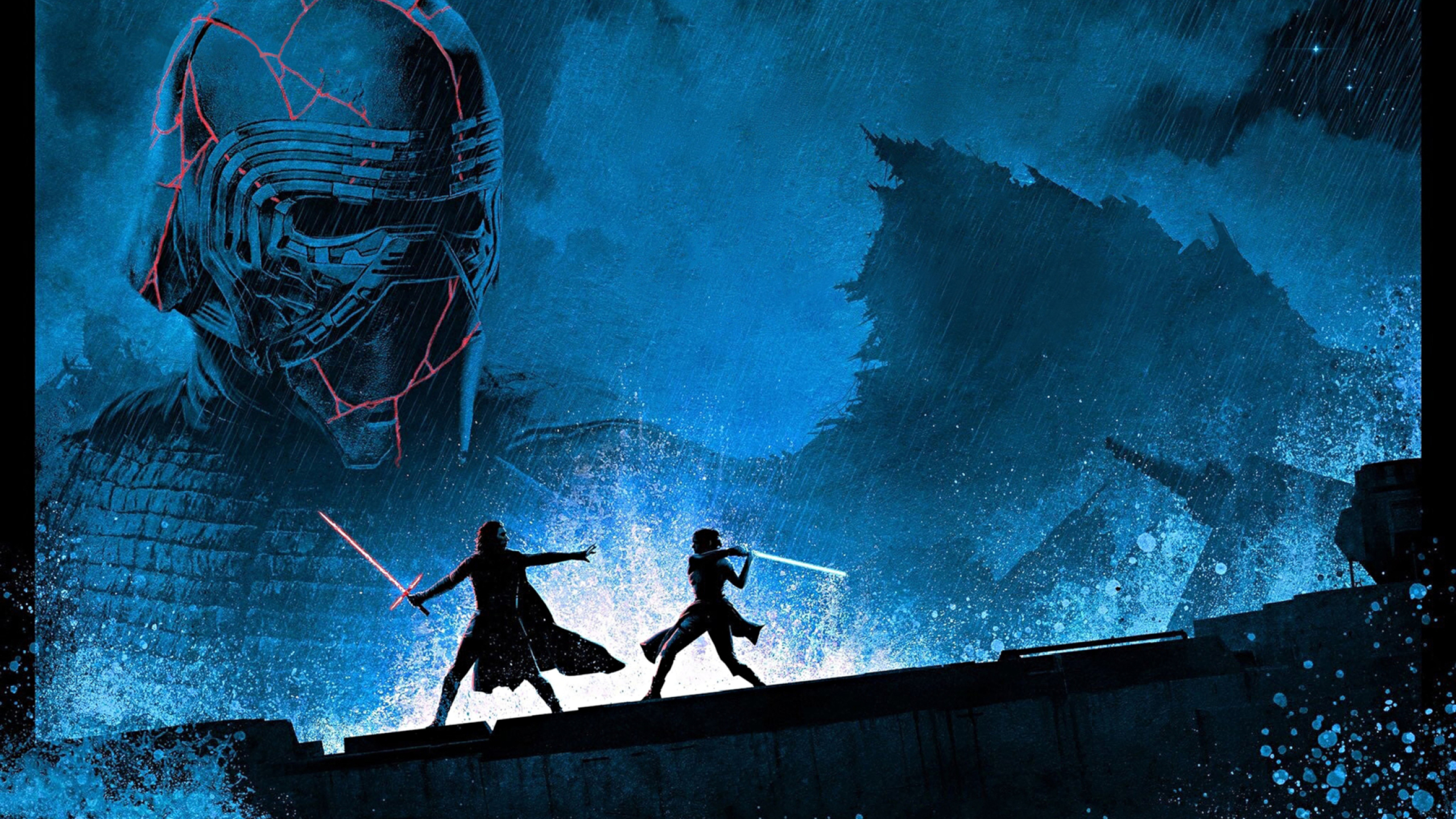 2560x1440 Kylo Ren Vs Rey Star Wars 1440p Resolution Wallpaper Hd Movies 4k Wallpapers Images Photos And Background
