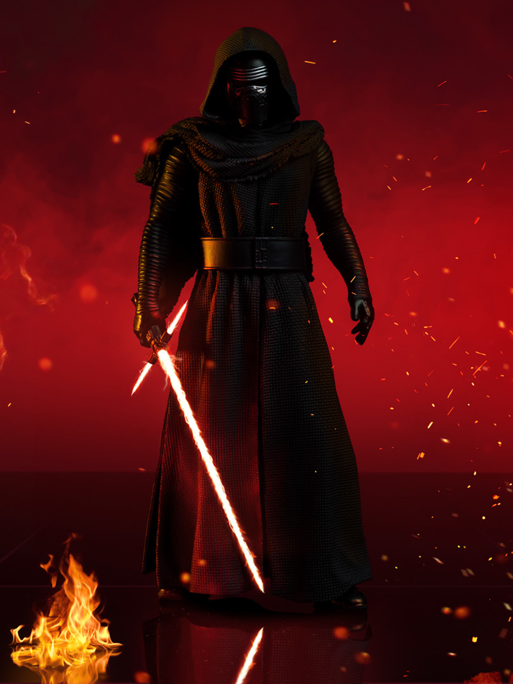 2048x2732 Kylo Ren With Lightsaber In Star Wars 2048x2732