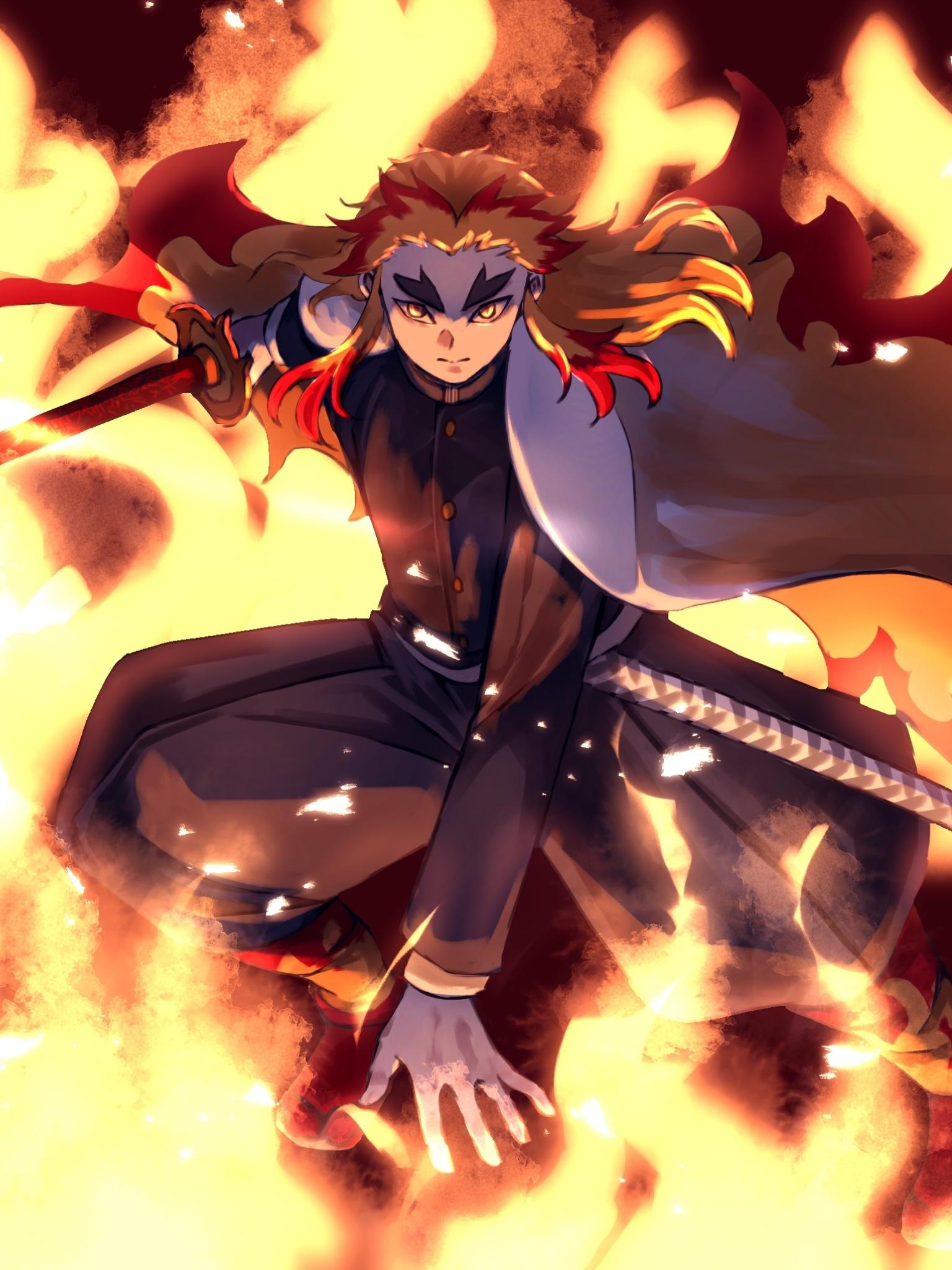 1536x2048 Kyojuro Rengoku From Demon Slayer 1536x2048 ...