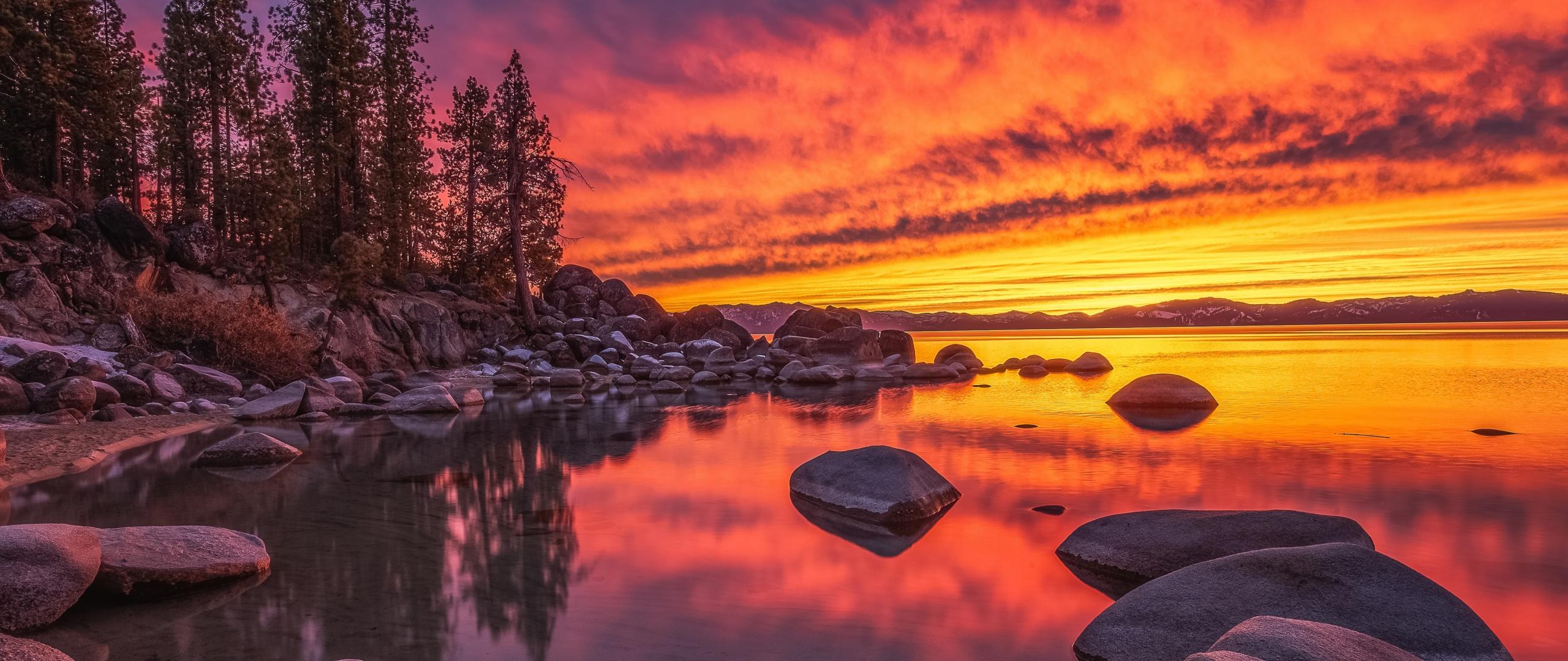 Lake Tahoe Nevada Wallpaper in 2560x1080 Resolution