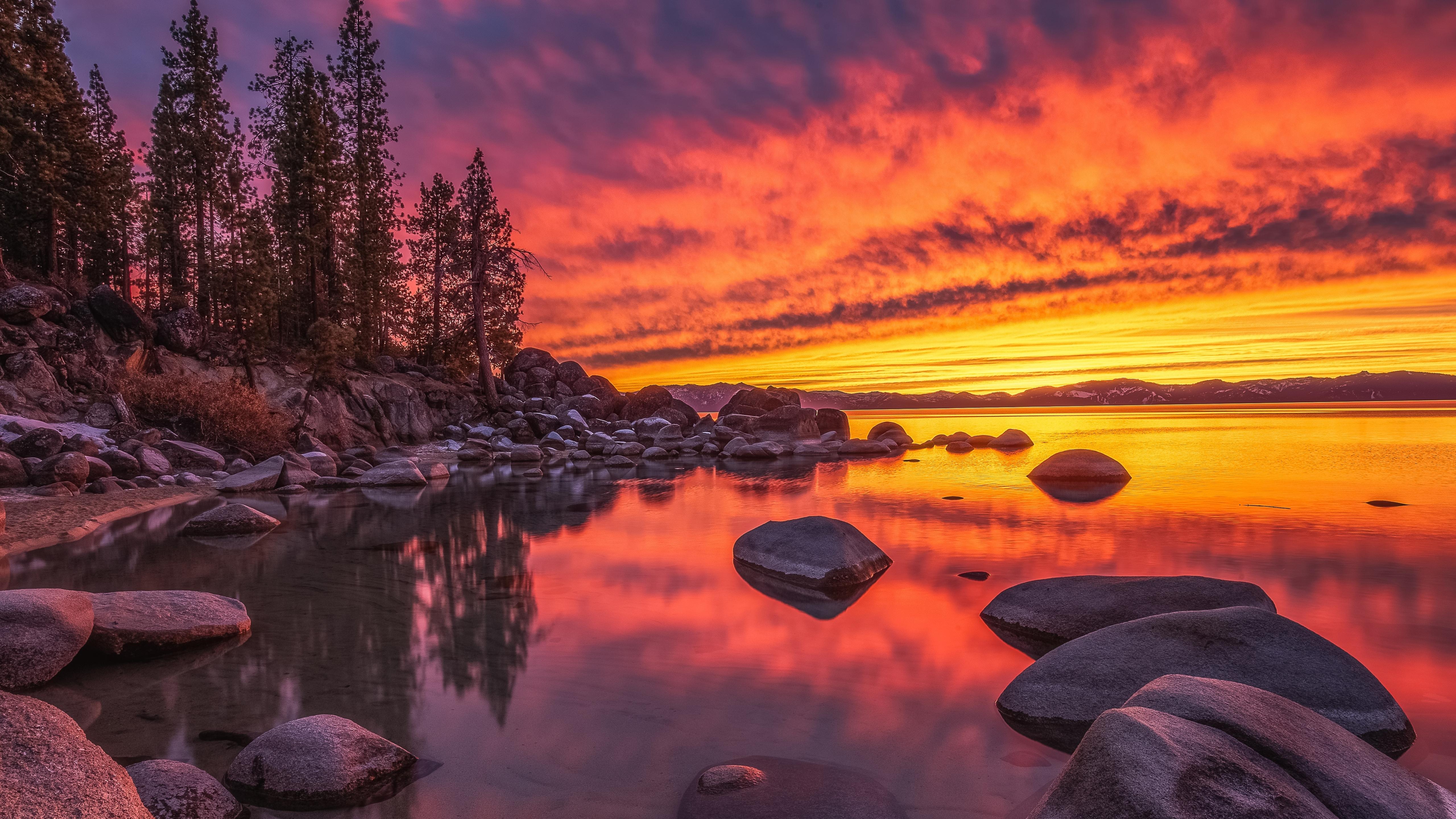 Lake Tahoe Nevada Wallpaper in 5120x2880 Resolution