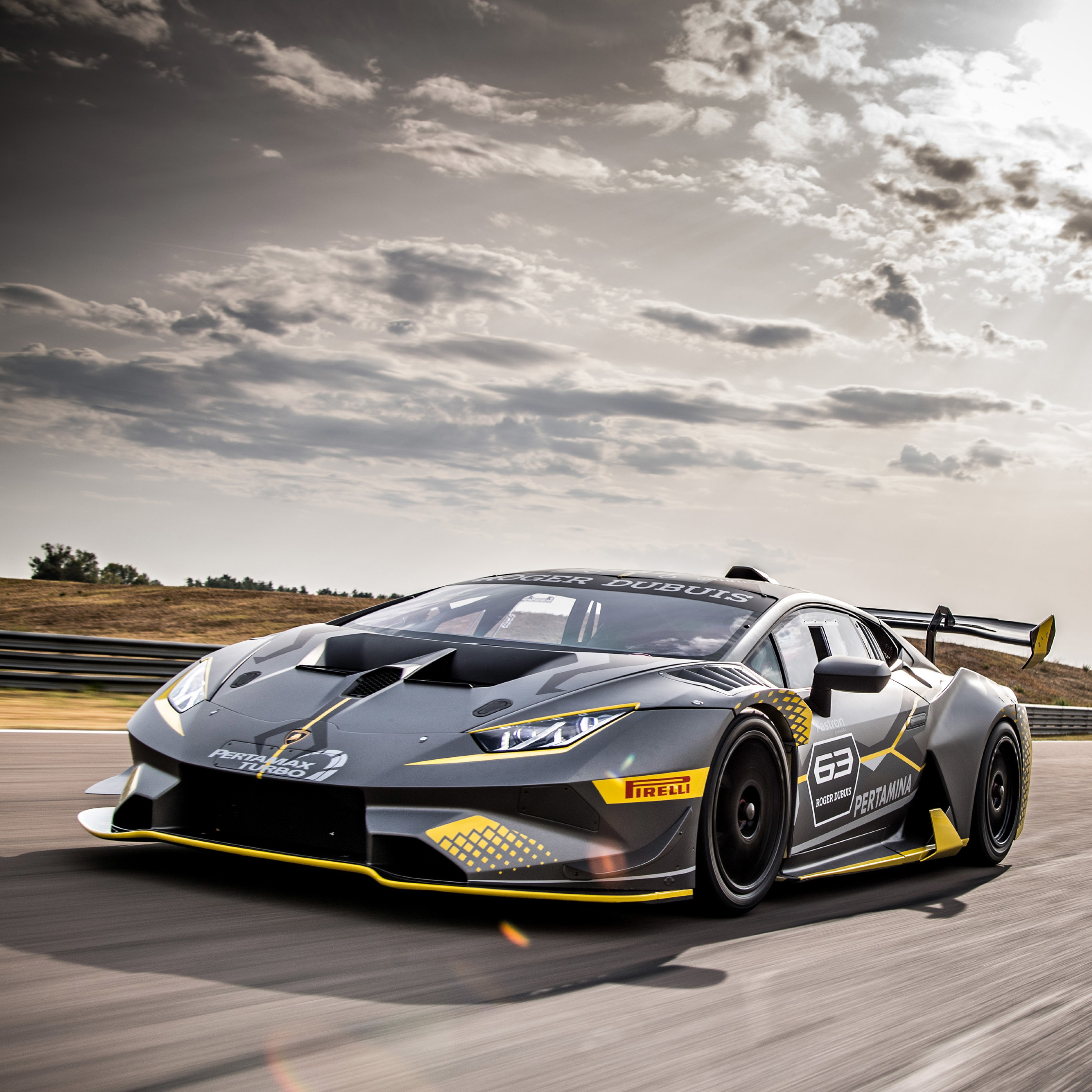 Lamborghini Huracan Super Trofeo Evo 2018 Front, HD 4K
