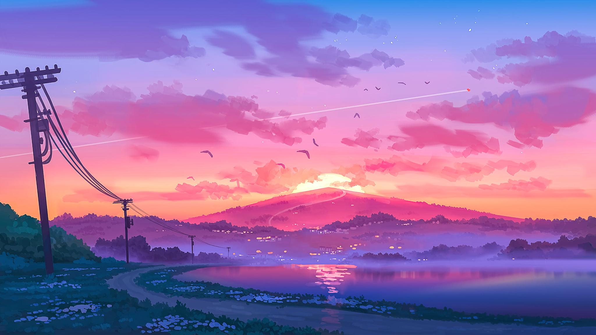2048x1152 Landscape Pixel Art 2048x1152 Resolution