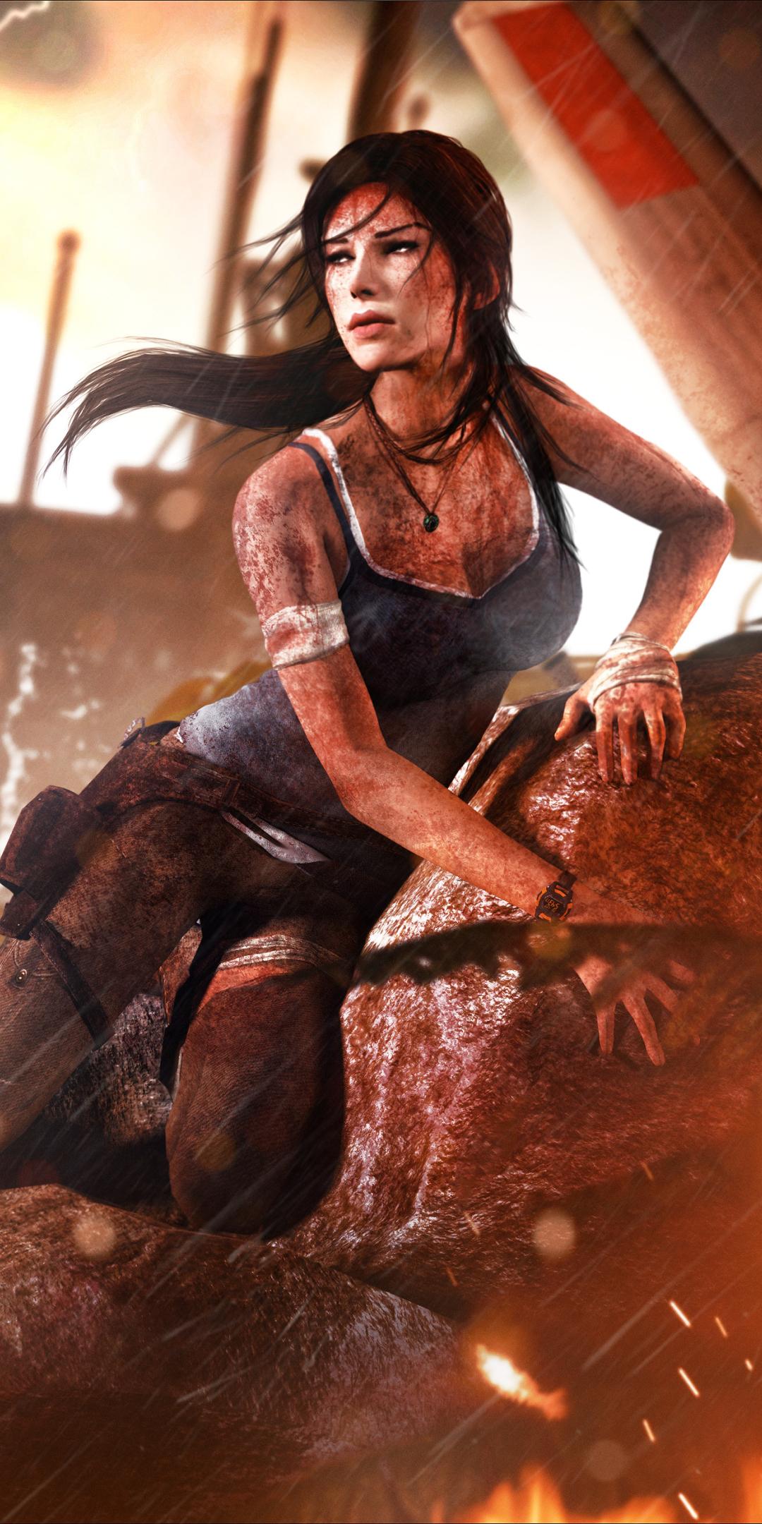1080x2160 Lara Croft 4K Tomb Raider One Plus 5T,Honor 7x