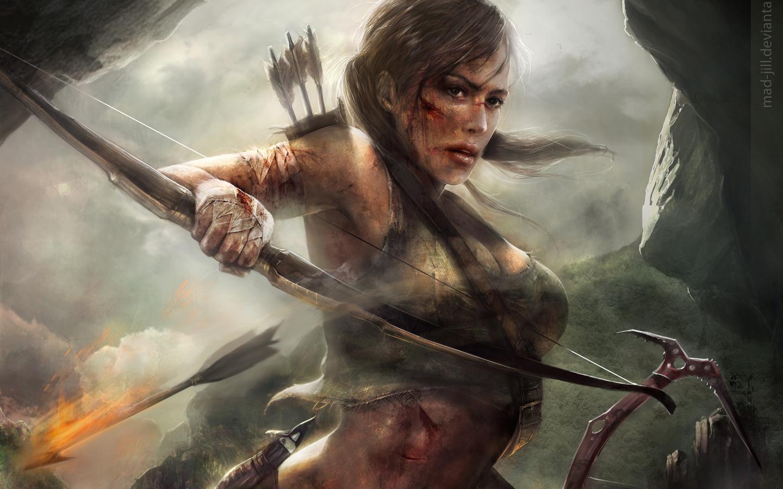 Lara Croft Tomb Raider Artwork, Full HD 2K Wallpaper