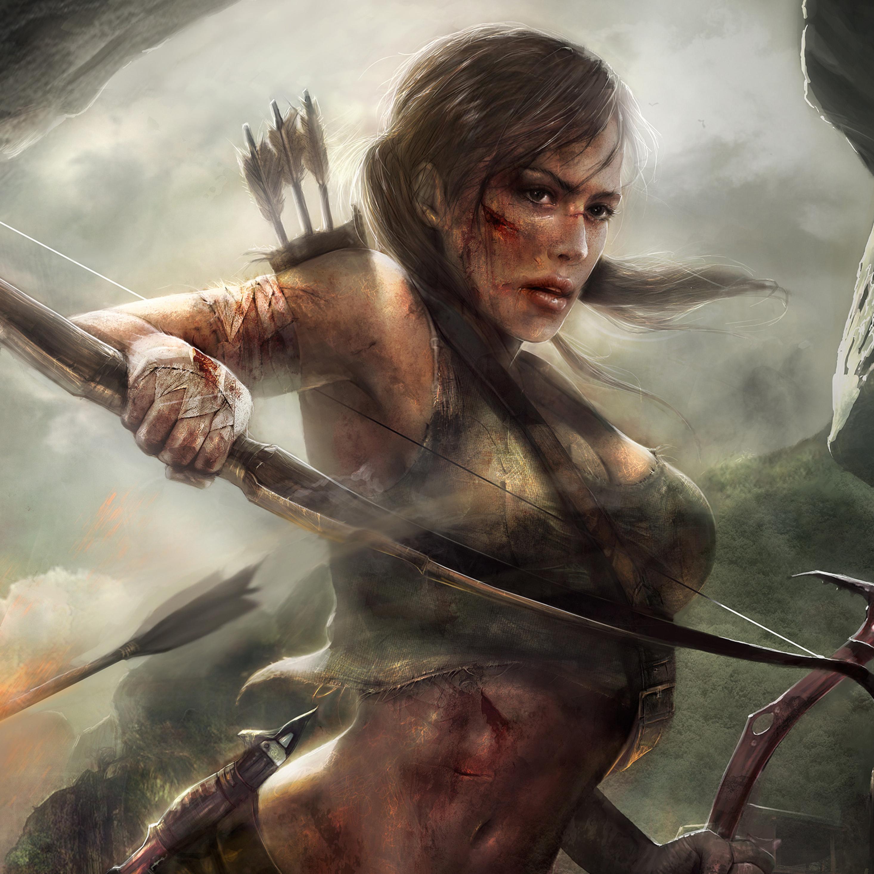 Tomb Raider Iphone Wallpaper: Lara Croft Tomb Raider Artwork, Full HD 2K Wallpaper