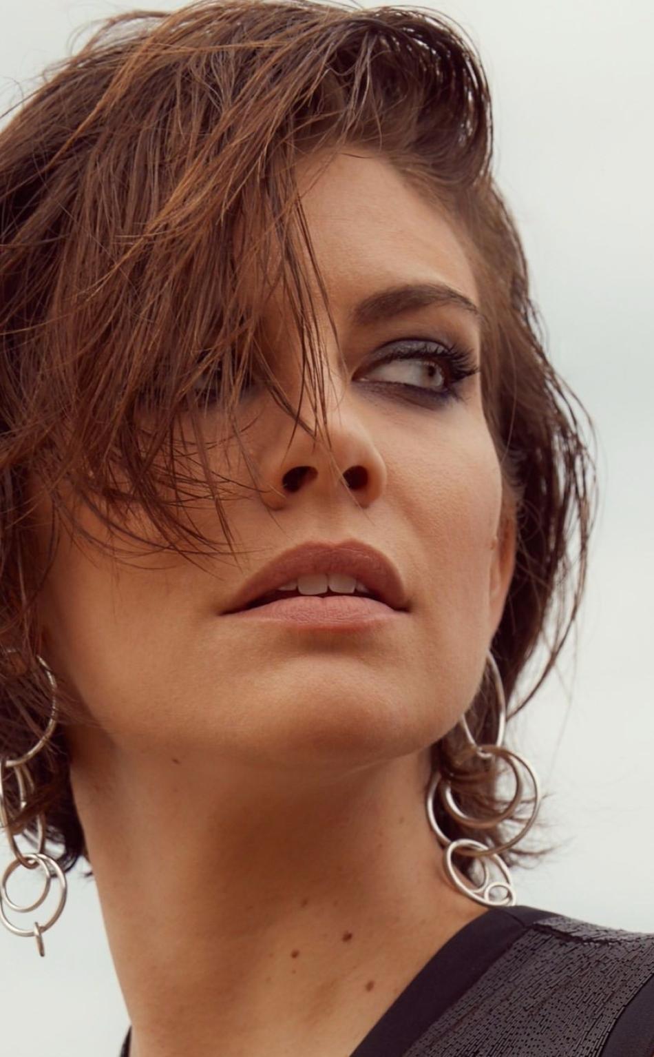 Lauren Cohan Brunette Face Full Hd 2k Wallpaper