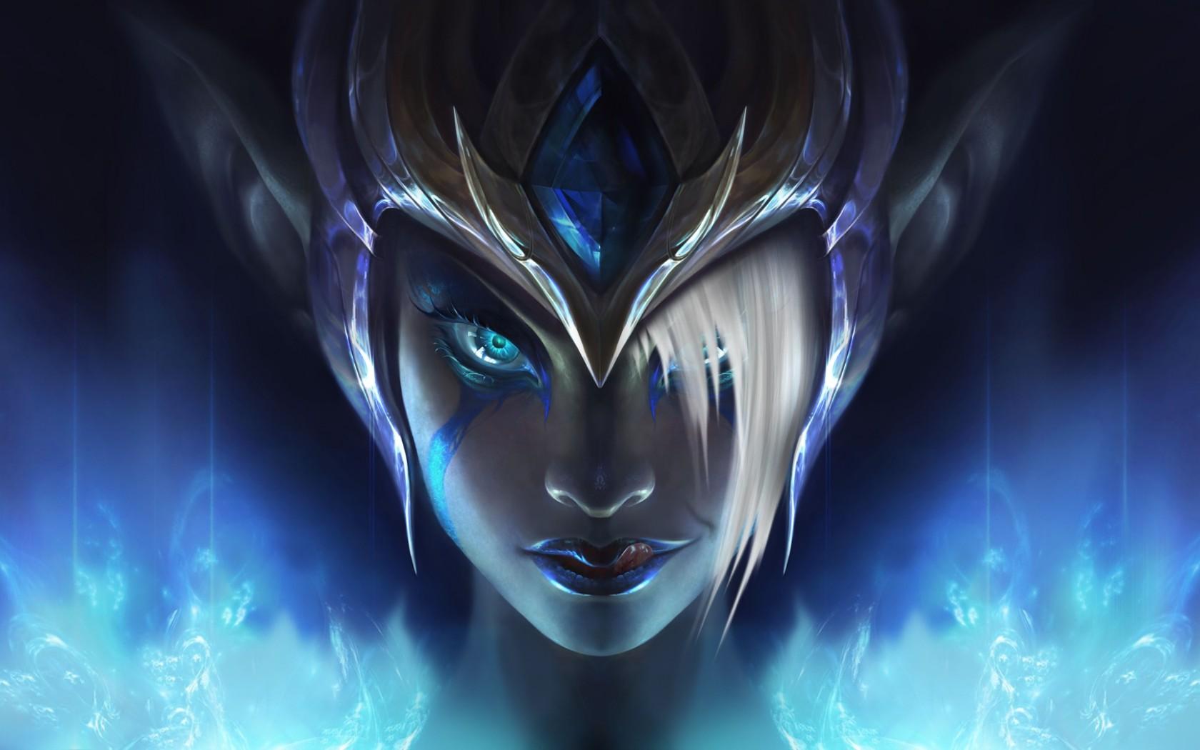 1242x2688 League Of Legends Morgana Art Iphone Xs Max Wallpaper