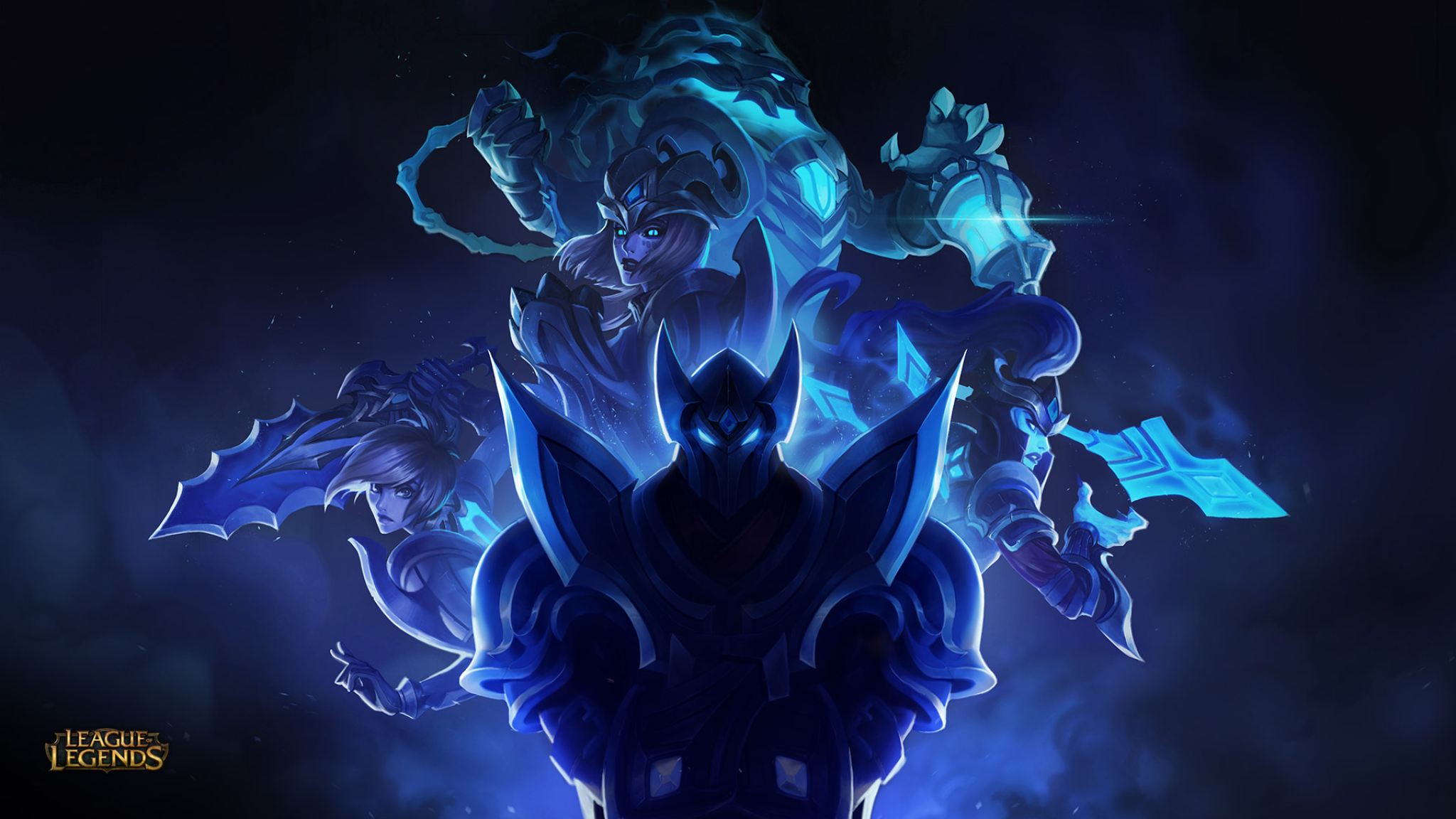 Dual Monitor Wallpaper League Of Legends: League Of Legends Zed, Riven, Shyvana And Thresh, Full HD