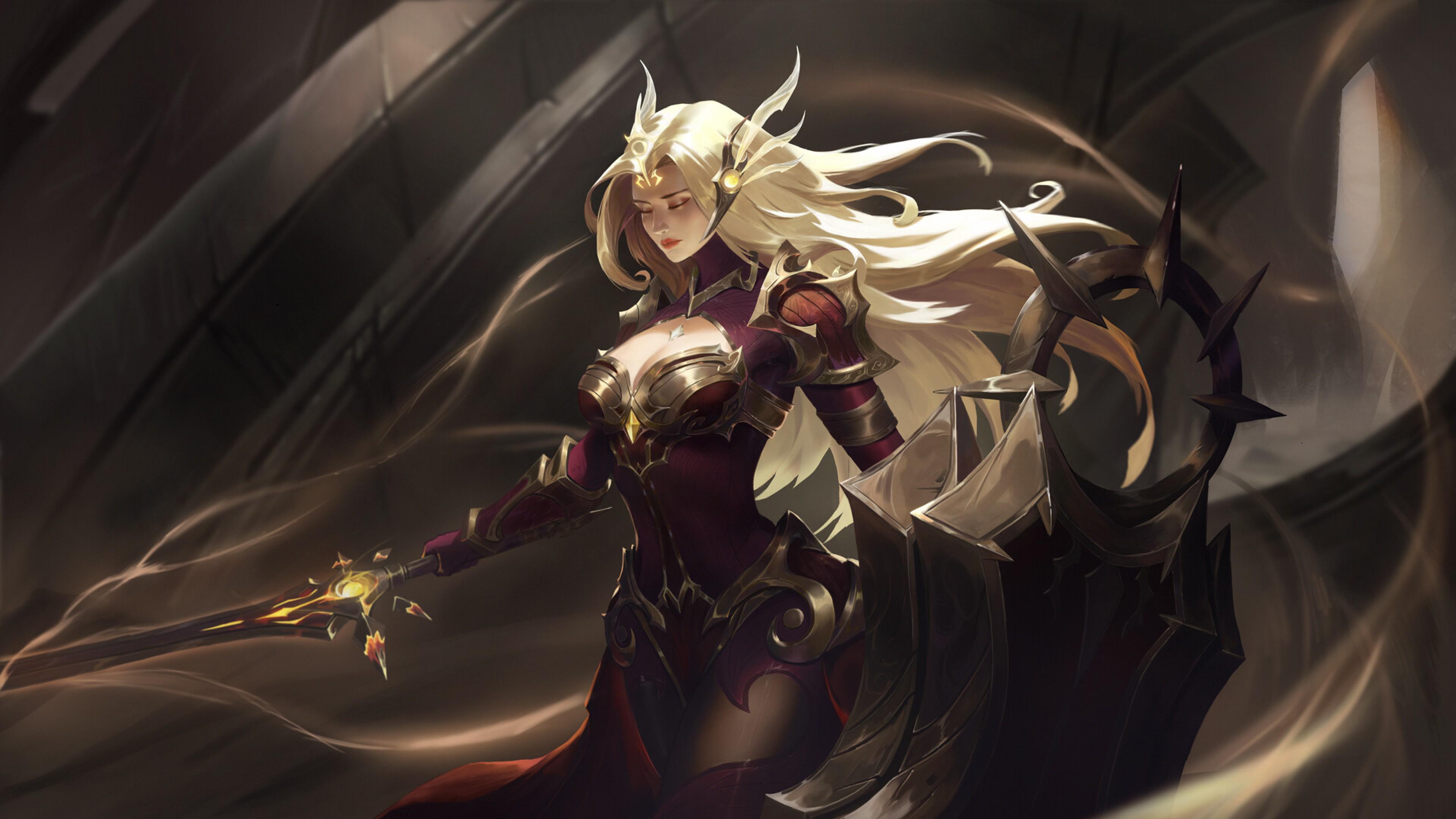 3840x2160 Leona In League Of Legends 4k Wallpaper Hd Games 4k