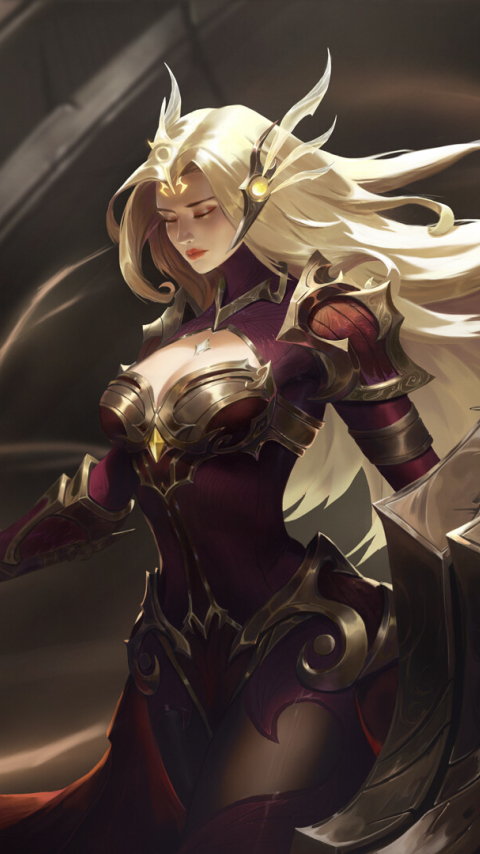 Leona in League of Legends Wallpaper in 480x854 Resolution