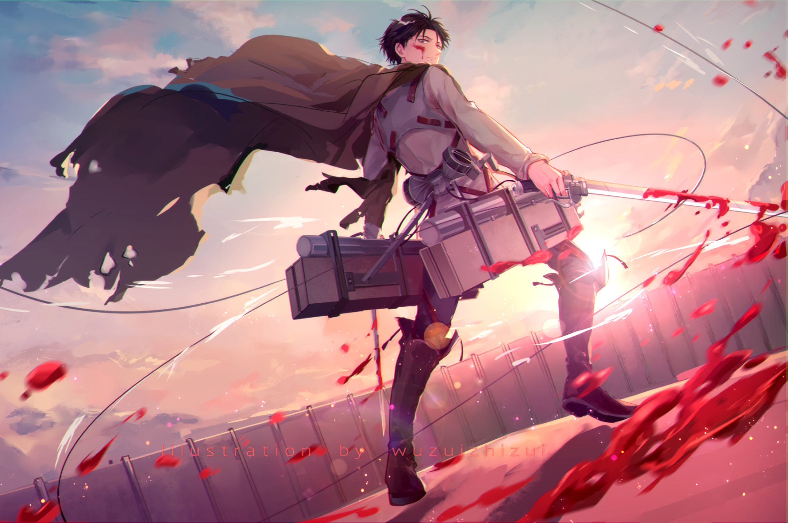 2560x1700 Levi Ackerman Chromebook Pixel Wallpaper Hd Anime 4k Wallpapers Images Photos And Background
