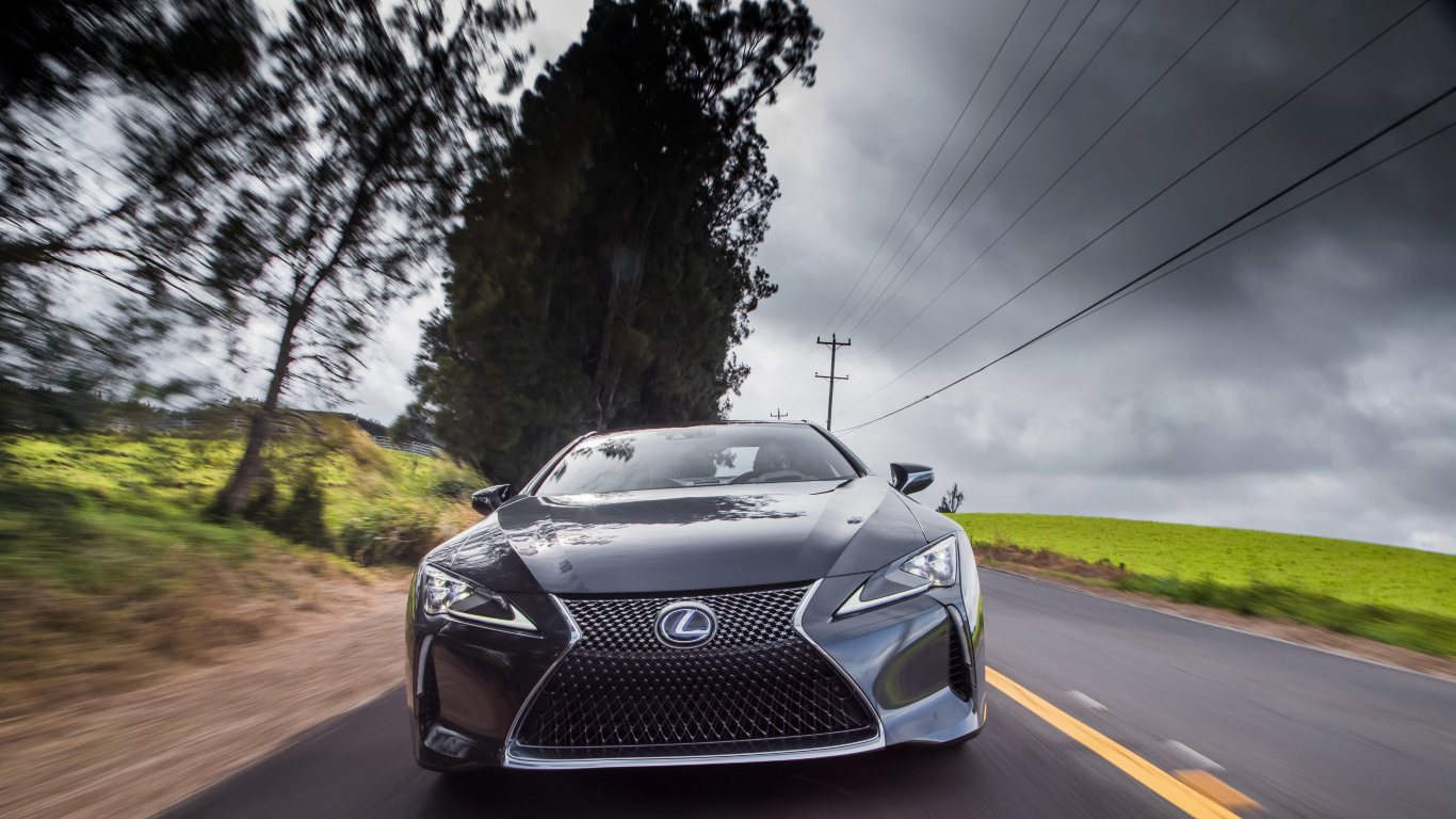 1366x768 Lexus Lc 500h 2018 Front 1366x768 Resolution