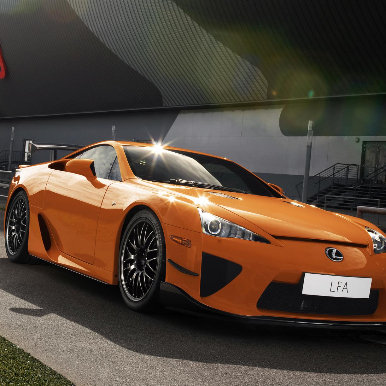 Lexus Car Wallpaper: Download Lexus, Lfa, Orange 240x400 Resolution, Full HD 2K